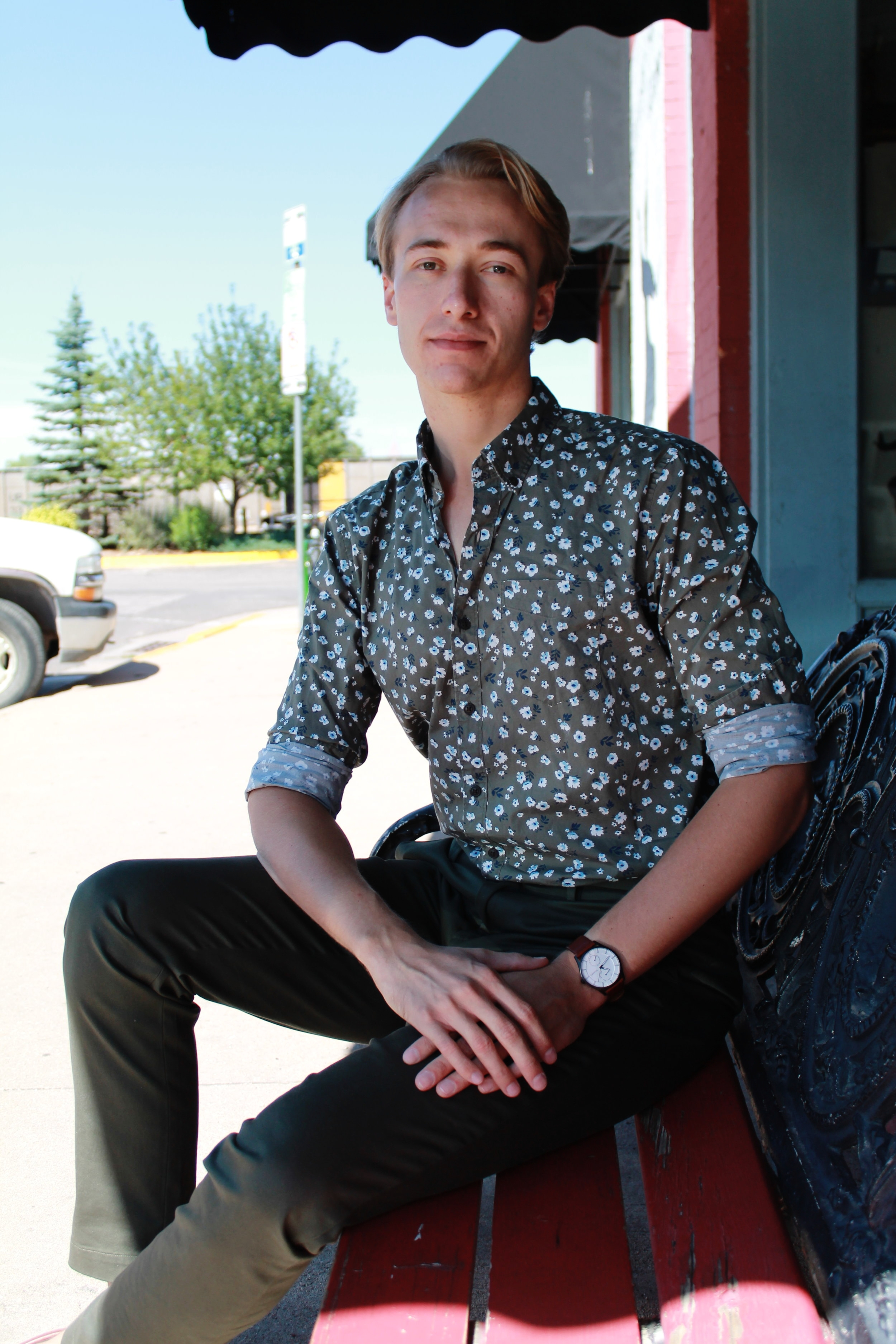 Matthew Schneider in downtown Laramie.