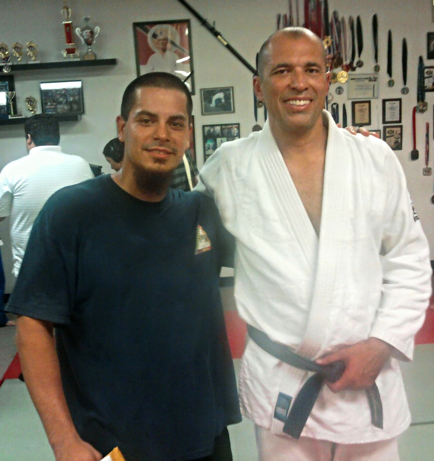 Sonny with Royce Gracie