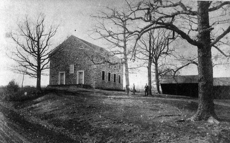 Exterior view of the original Thompson Memorial Presbyterian Church.