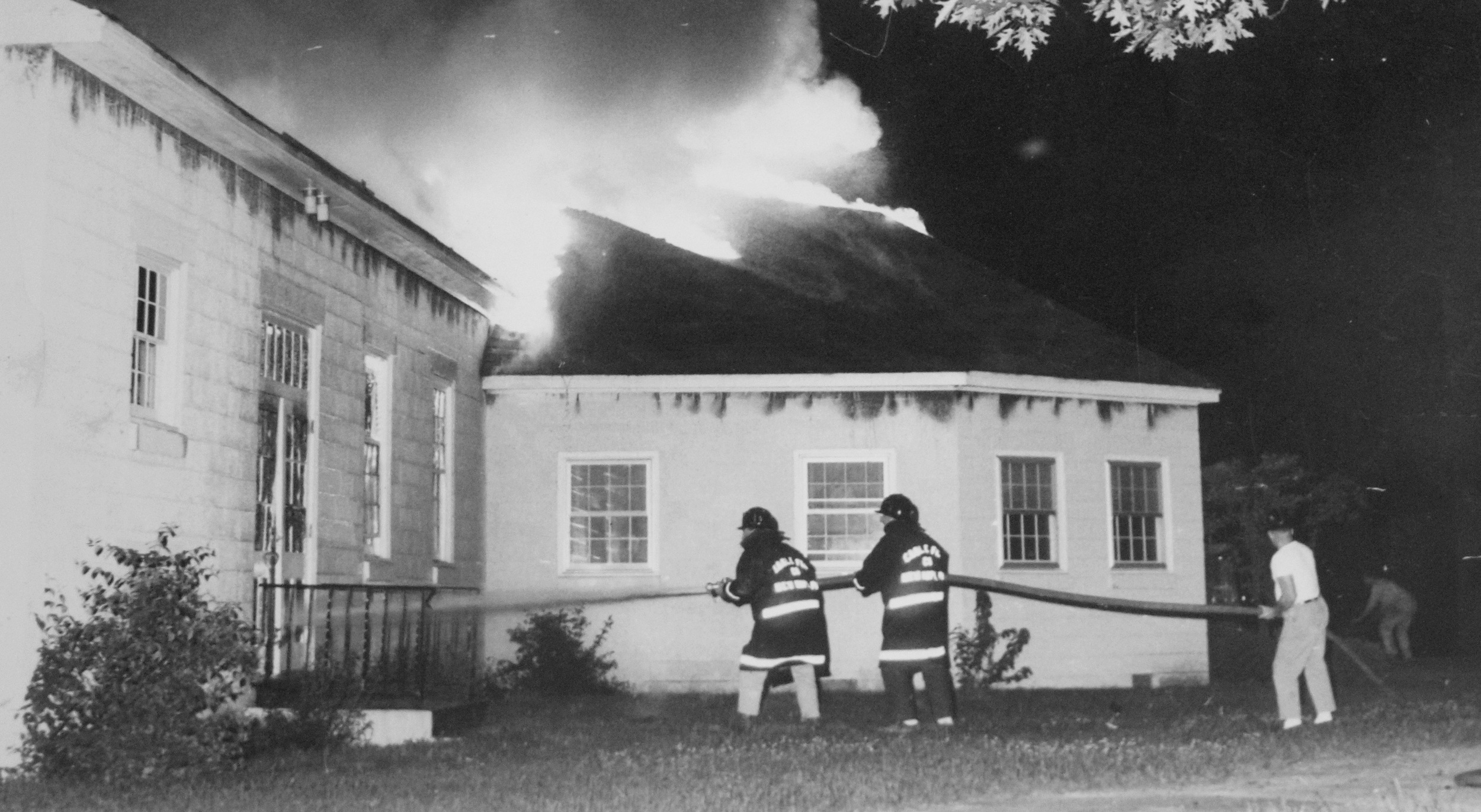 A fire in 1966 destroyed the Educational Building.
