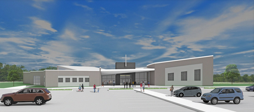 Elim Mission Church - Conceptual Rendering