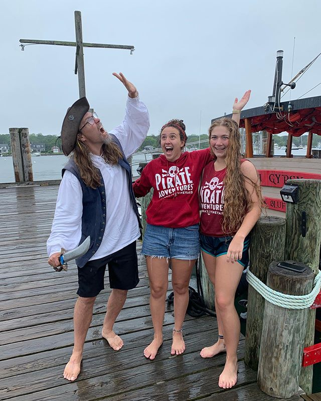 A little rain don't scare us! We are still planning on running our trips today in the light rain. Please dress accordingly☠️ . . . #rainrain #goaway #pirateadventure #mvpirates #august #augustrain #weather #trips #tour #stillsailing #stillstanding #wegotthis
