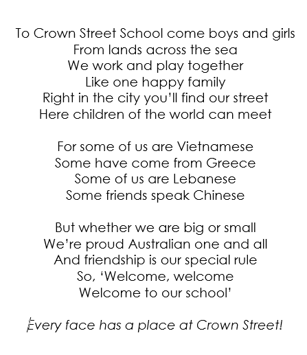 10.15am - Student welcome - The students will sing their school song and welcome everyone to their school.