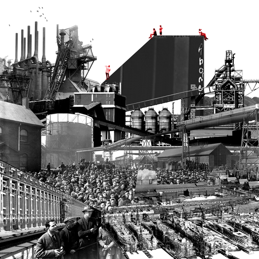 THE PHYSICAL AND SOCIAL INFRASTRUCTURES OF AN OBSOLETE STEEL INDUSTRY:  RESEARCH FOR  REFORGING STELCO