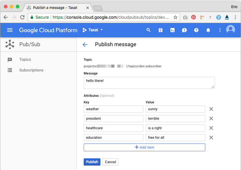 You can compose and send messages directly from the GCP Dashboard without writing any code.