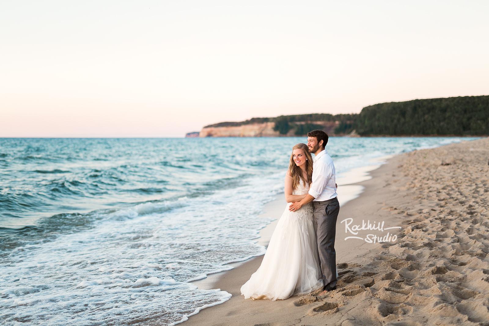traverse city wedding photographer rockhill studio beach wedding