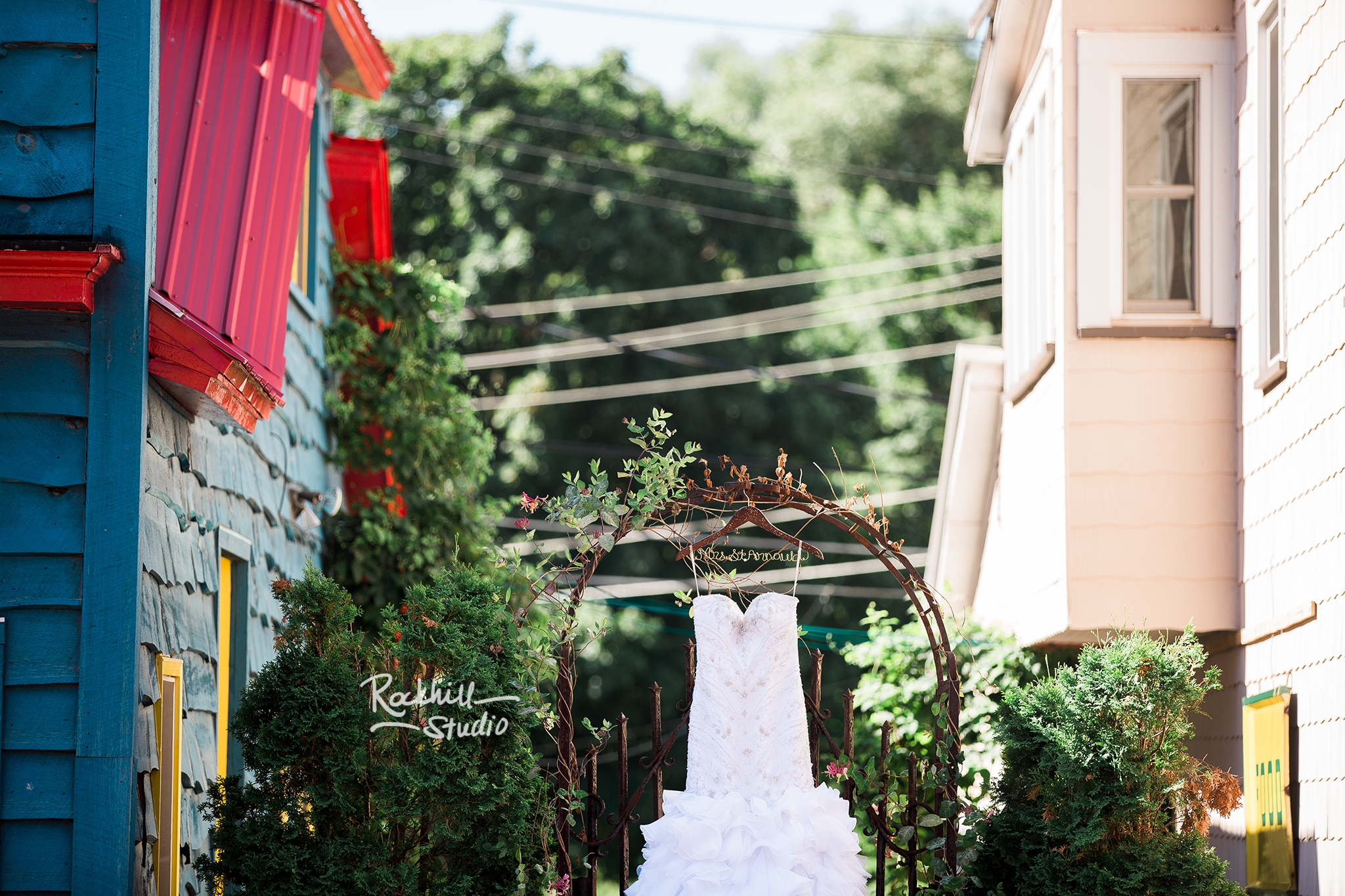traverse city wedding photographer dress details outdoor