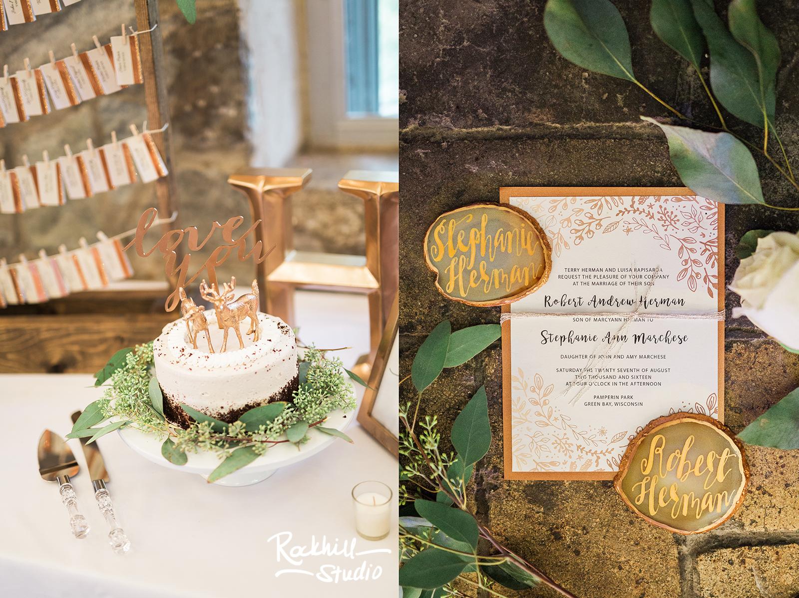 traverse city wedding photographer reception invitation