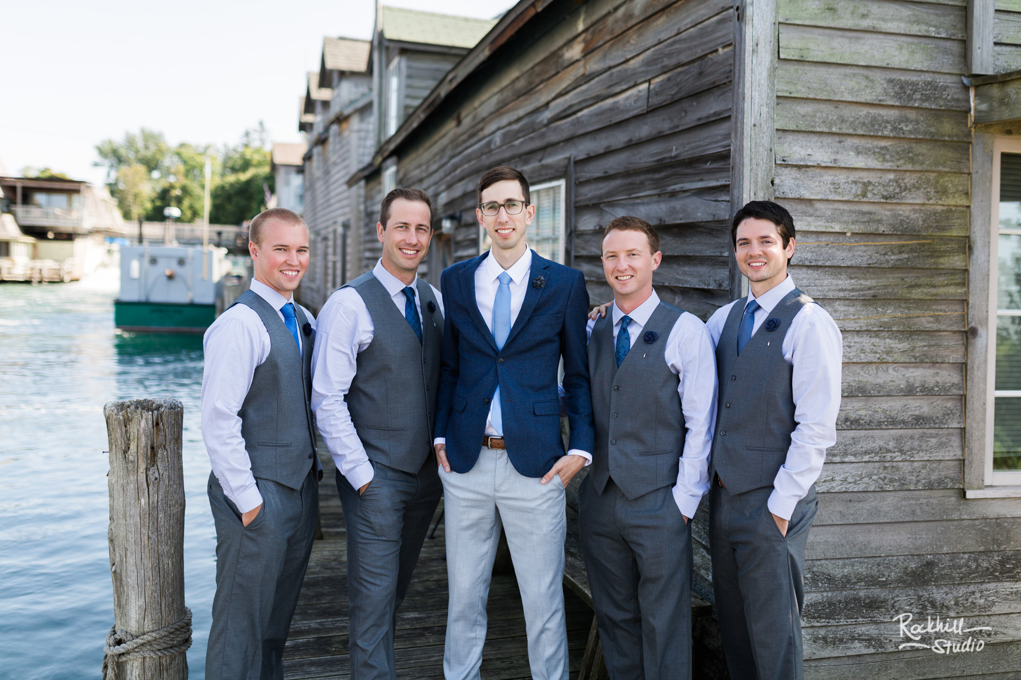 Traverse City wedding photographer Rockhill Studio, Glen Arbor Wedding, leland fishtown
