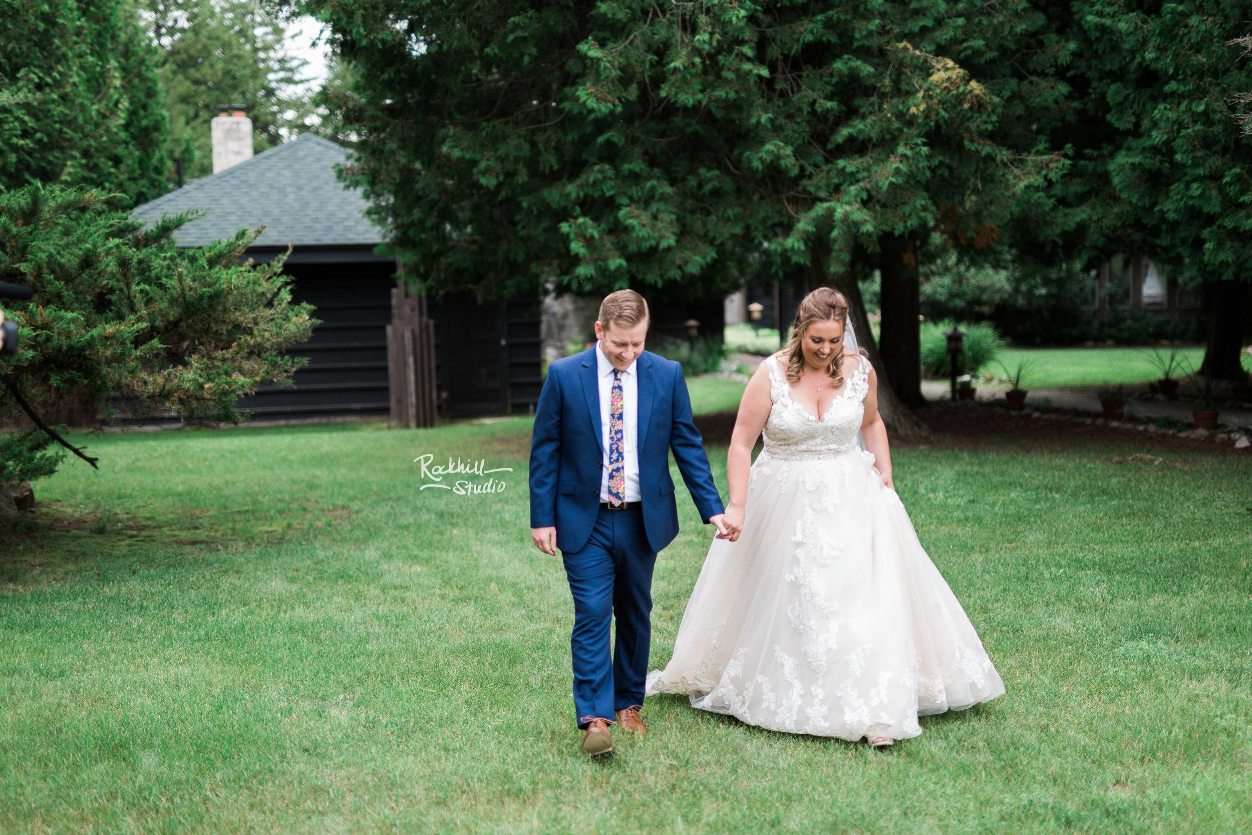 Drummond Island Wedding, Walking to the Ketubah signing, Traverse City Wedding Photographer Rockhill Studio