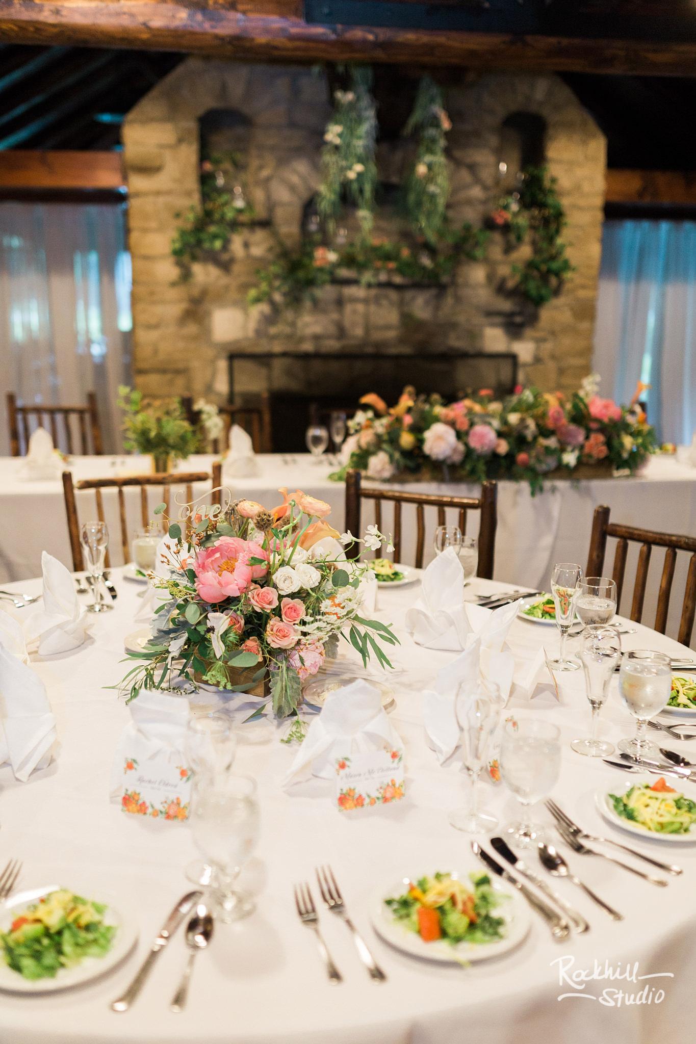 Drummond Island Wedding, Reception Tables, Traverse City Wedding Photographer Rockhill Studio