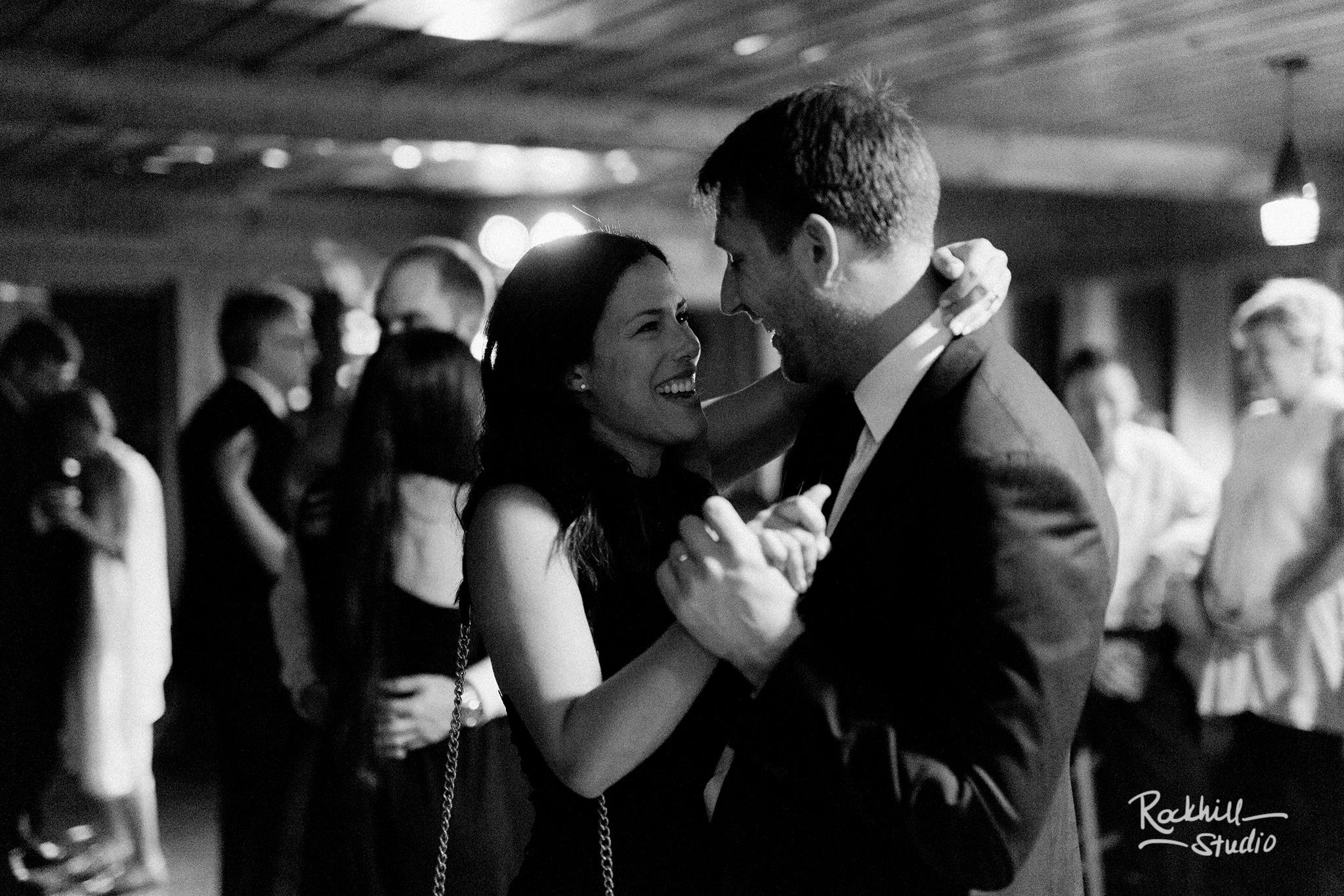 Drummond Island Wedding, reception dancing, Traverse City Wedding Photographer Rockhill Studio