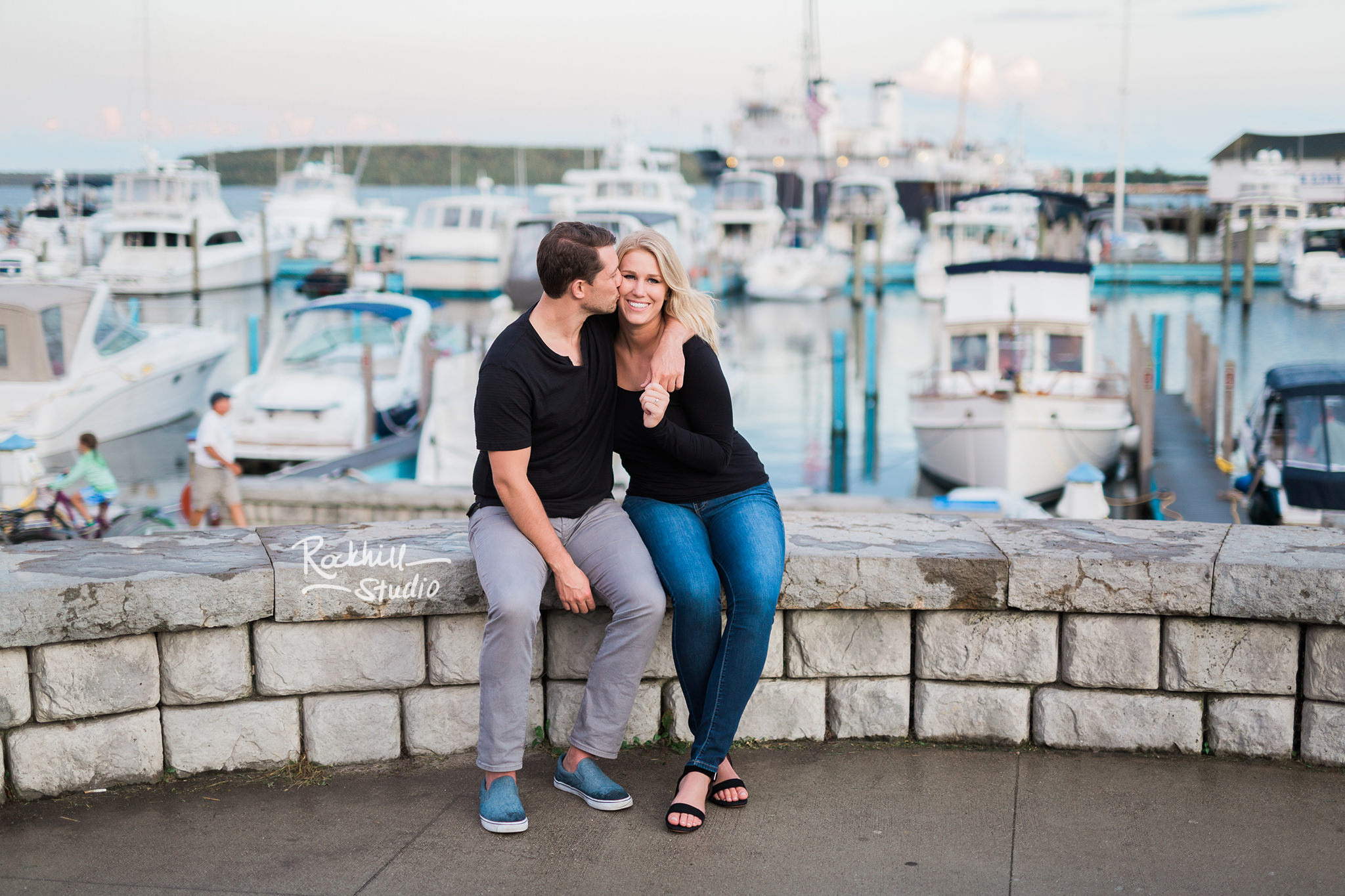 Mackinac Island Engagement, marquette park, Traverse City wedding photographer Rockhill Studio