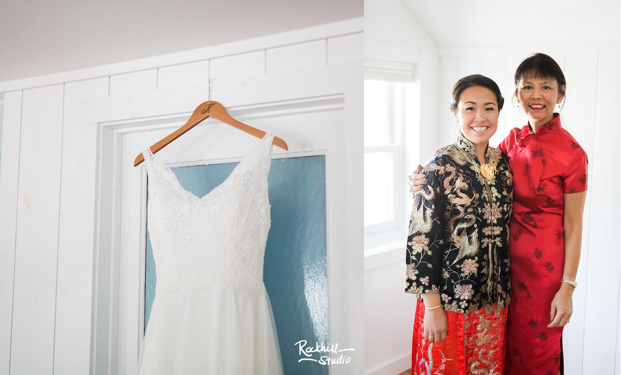 Northport Getting ready detail, wedding dress,Traverse City wedding photographer Rockhill Studio