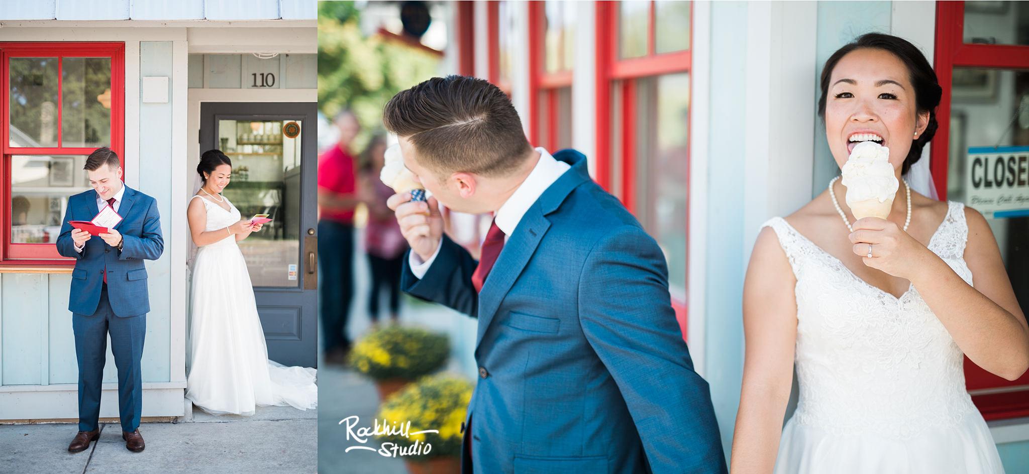 Northport first look, traverse city wedding photographer rockhill studio