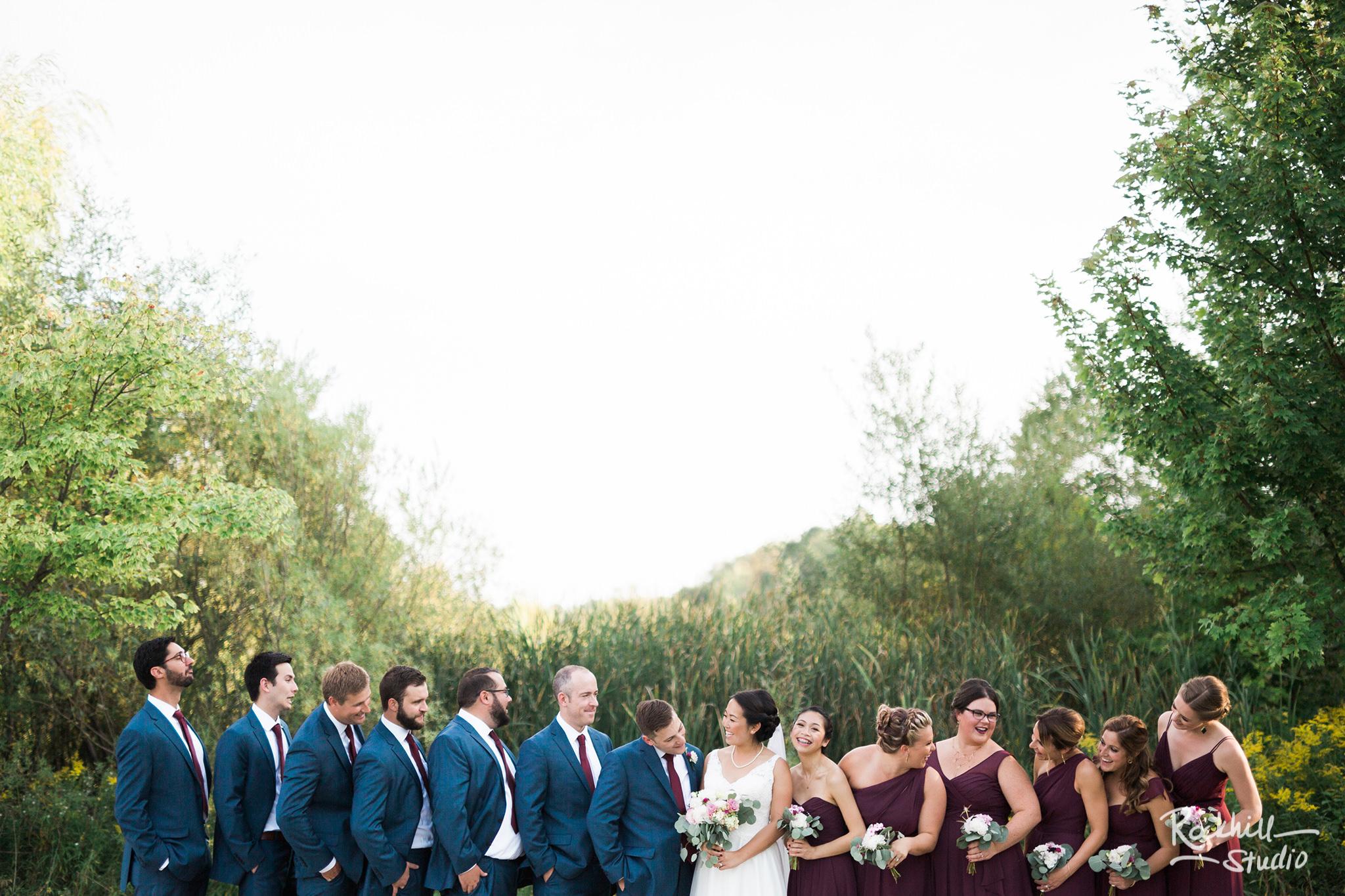Northport wedding, bridal party, Traverse city wedding photographer Rockhill Studio