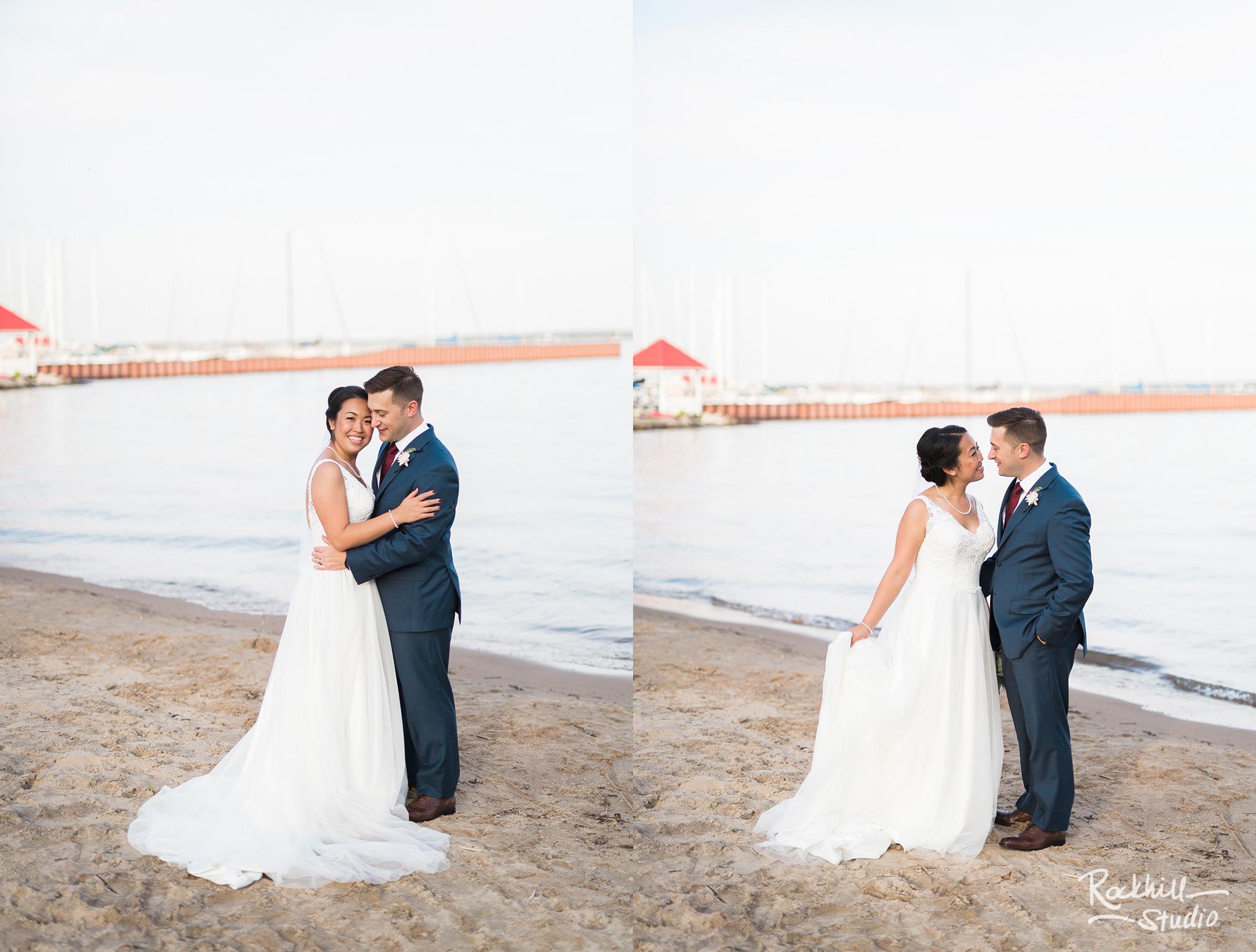 Northport wedding, bride and groom portrait, Traverse city wedding photographer Rockhill Studio