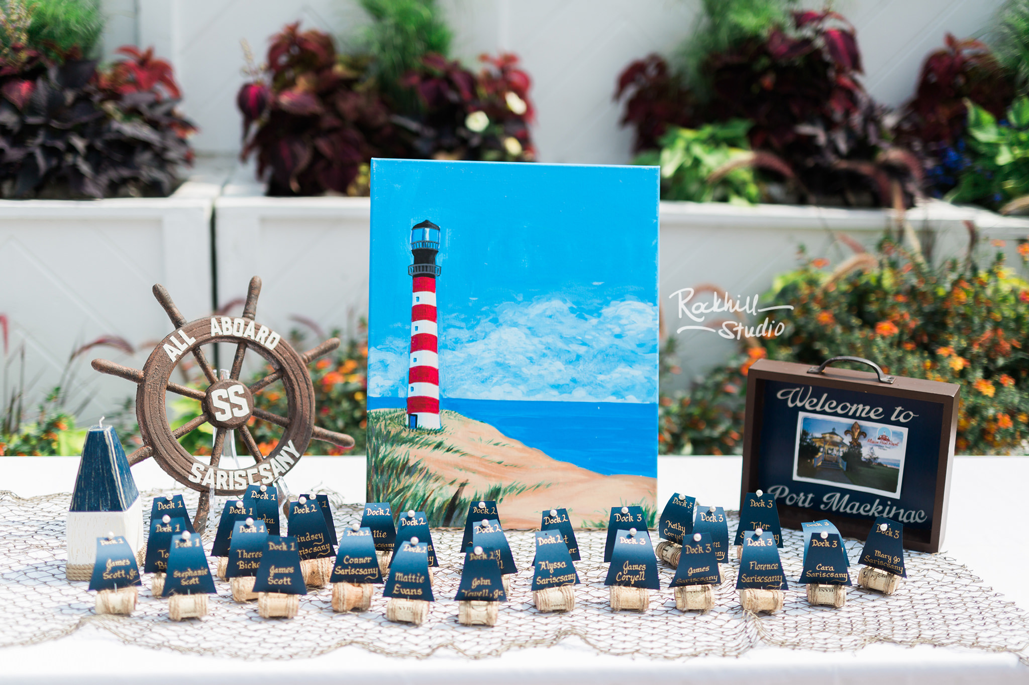 Nautical theme wedding at Mission Point Resort, Traverse City Wedding Photographer