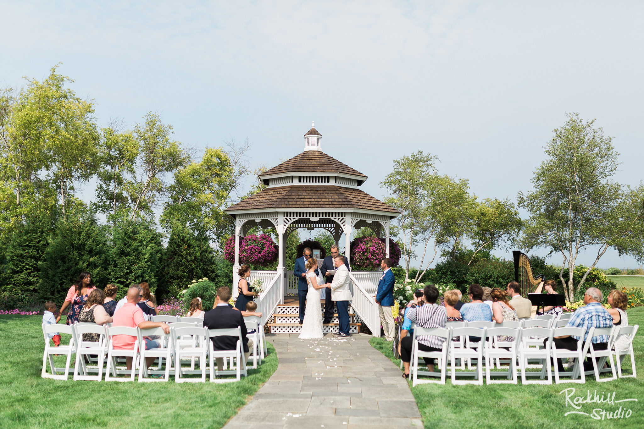 Mission Point Wedding, gazebo, Traverse City Wedding Photographer Rockhill Studio