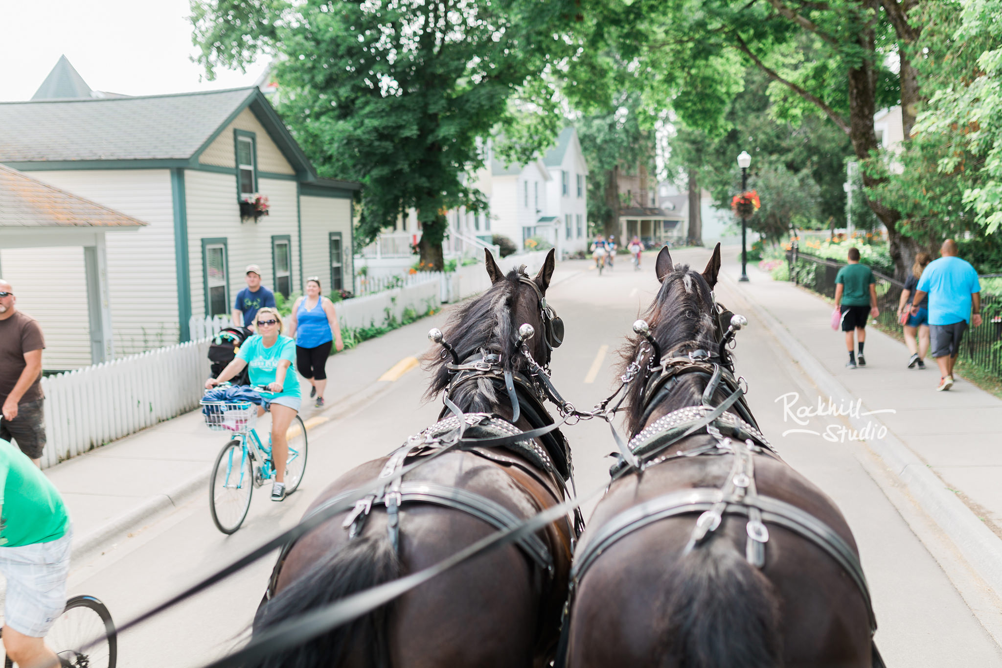 Mission Point Wedding, horse drawn carriage, Traverse City Wedding Photographer Rockhill Studio