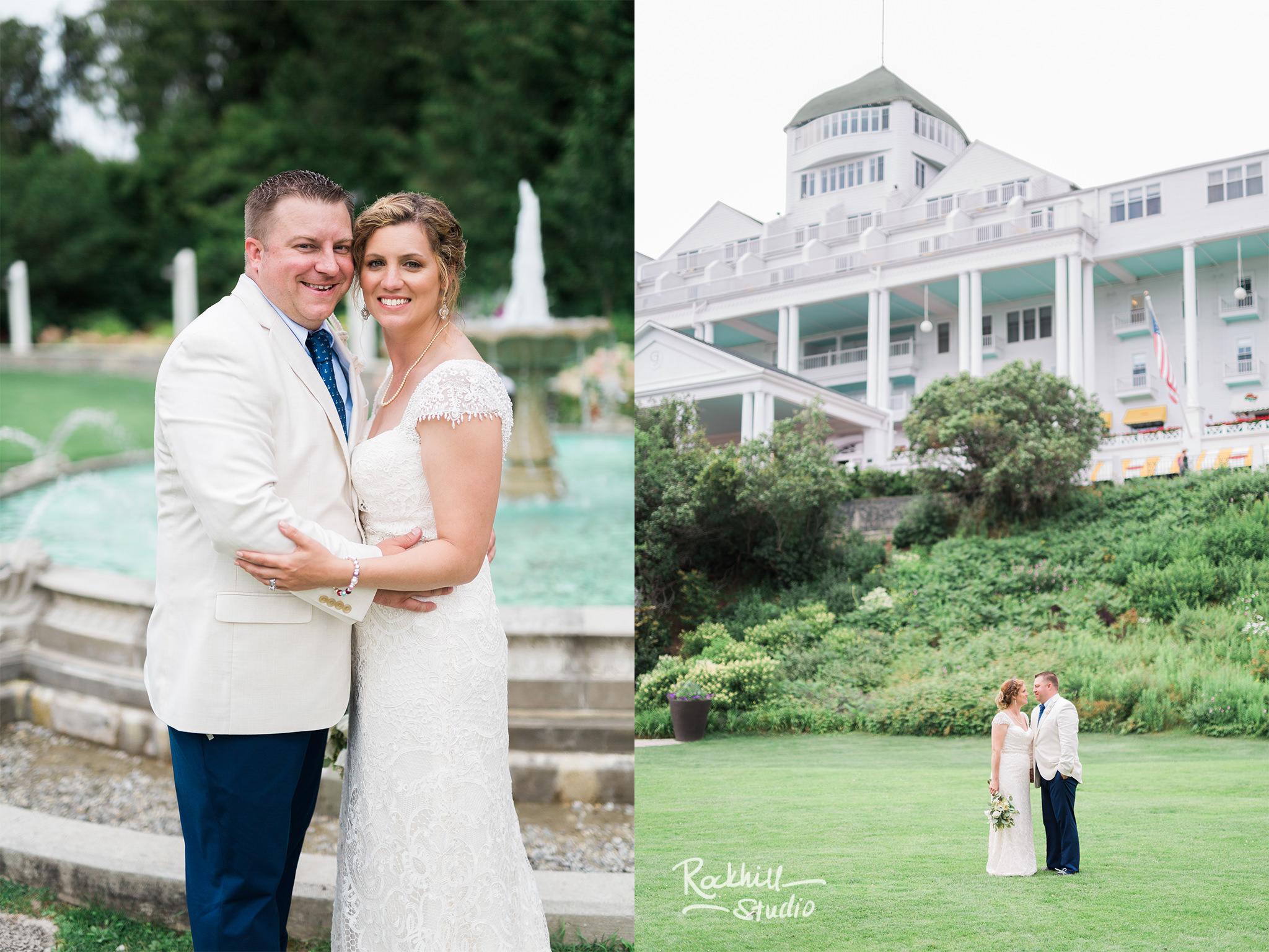 Grand Hotel Wedding, Mackinac Island horse drawn carriage, Traverse City Wedding Photographer Rockhill Studio