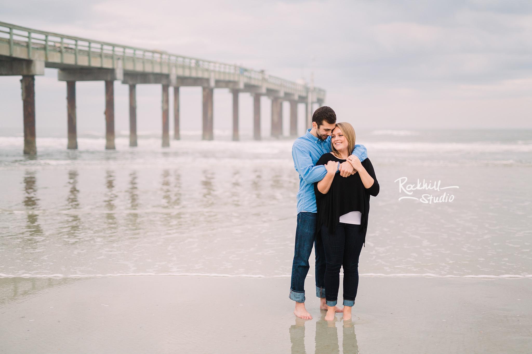 Traverse City wedding photographer, destination engagement St. Augustine, Florida beach