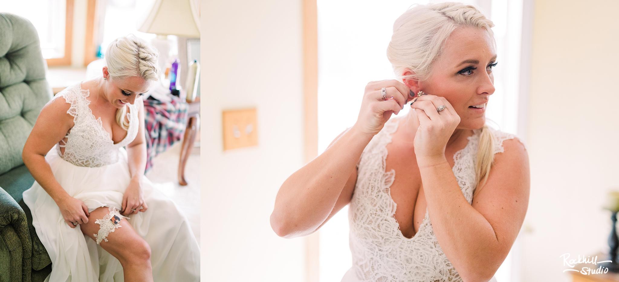 Traverse City Wedding Photographer, bride getting ready, Rockhill Studio