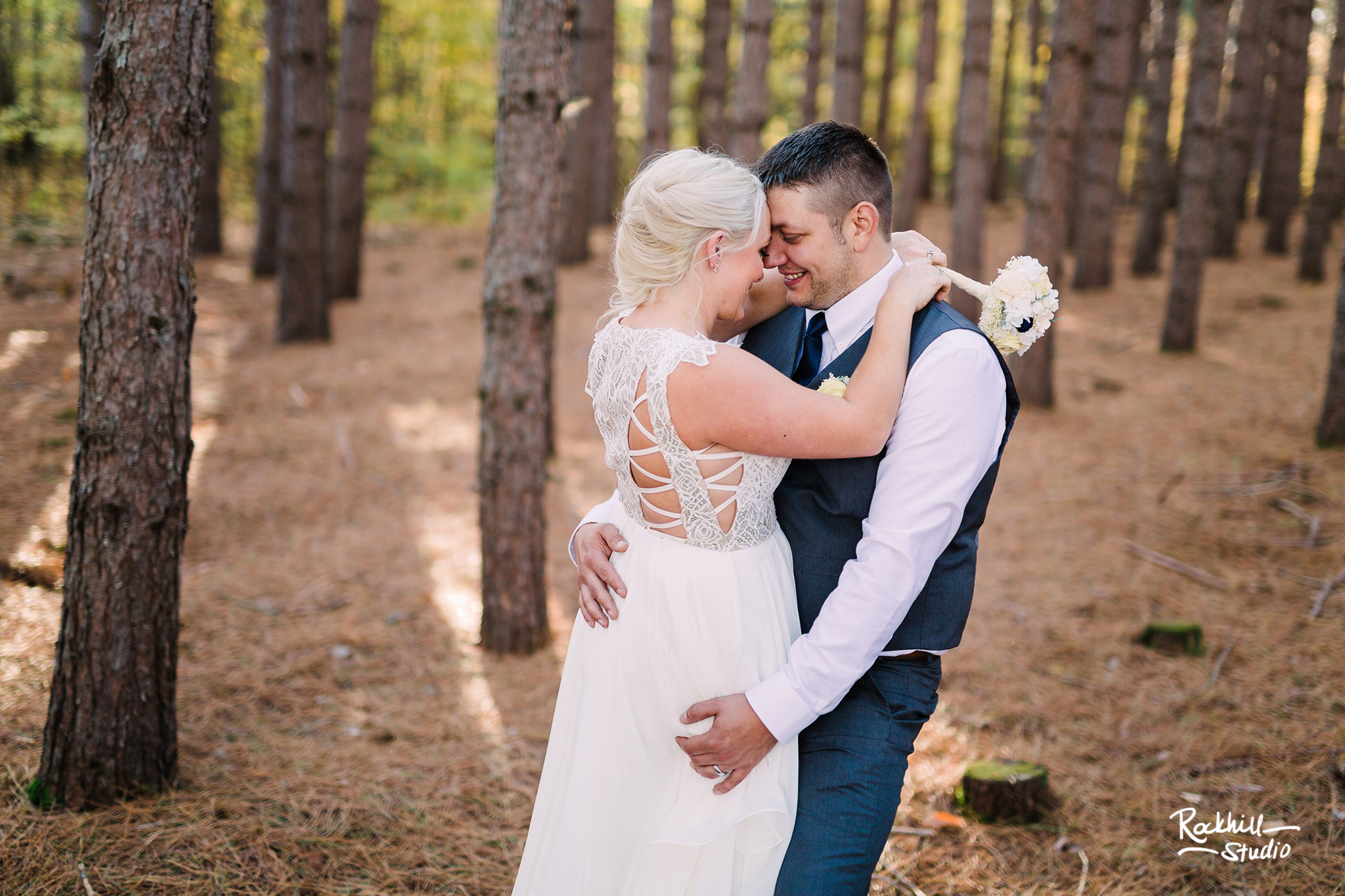 Traverse City Wedding Photographer, northern michigan pine trees ceremony, Rockhill Studio