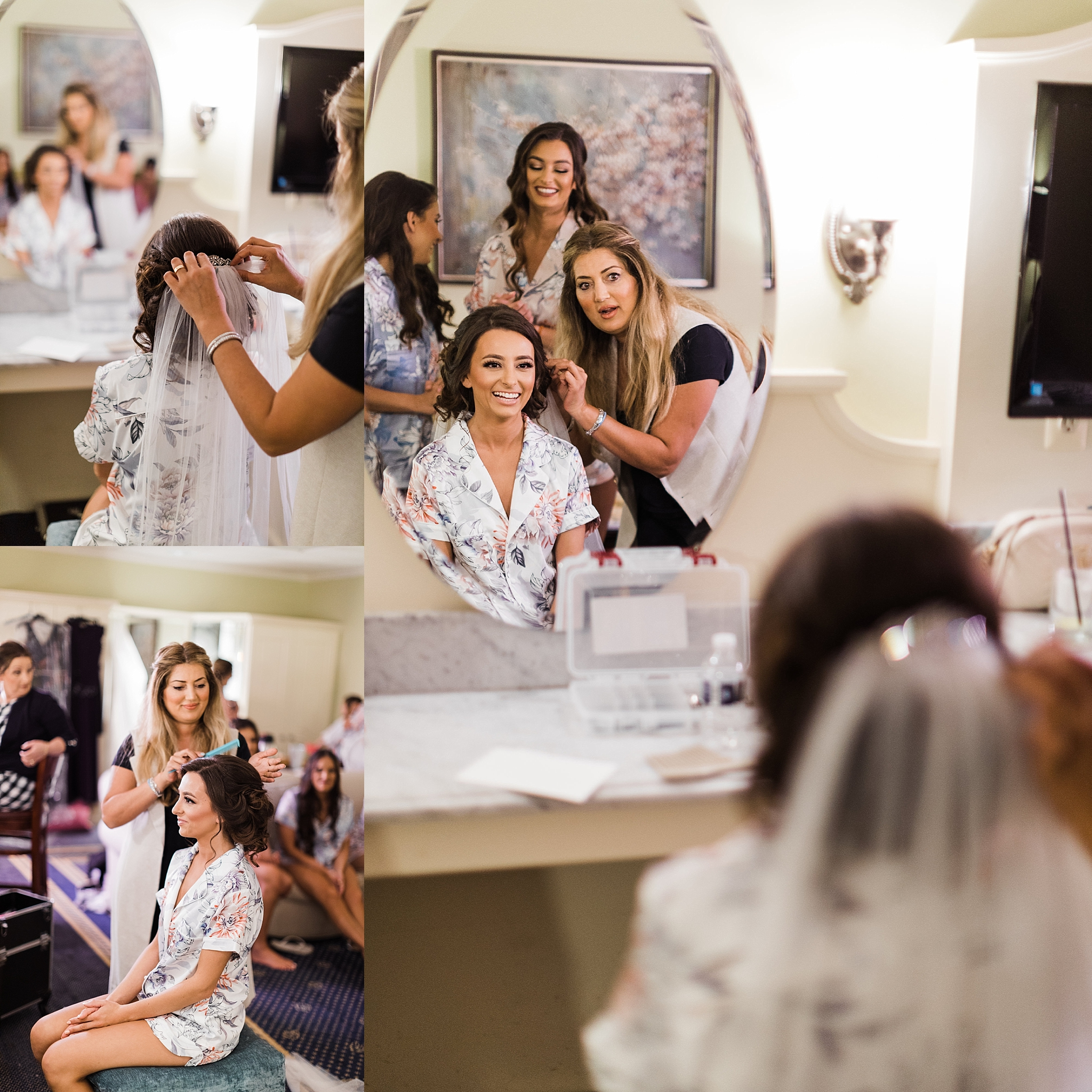 Bride getting ready, traverse city wedding photography Rockhill Studio, northern michigan,