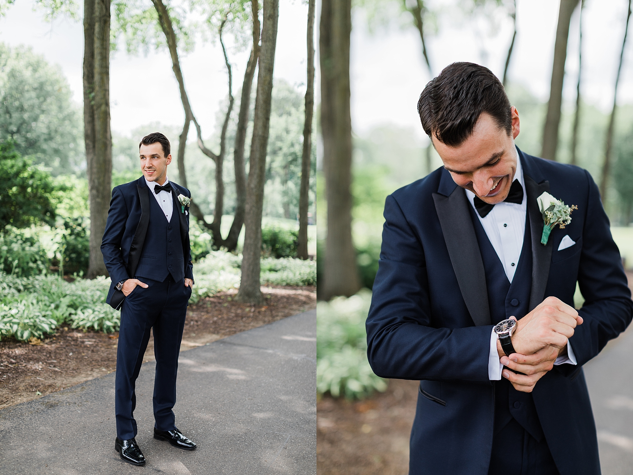 Groom getting ready, traverse city wedding photography Rockhill Studio, northern michigan,