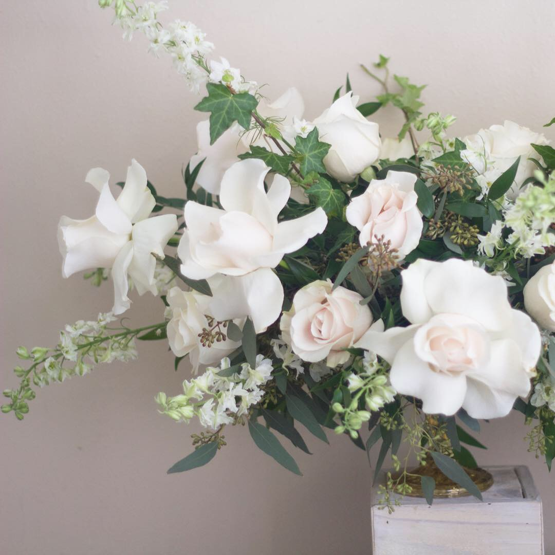 White Wedding Centerpeices
