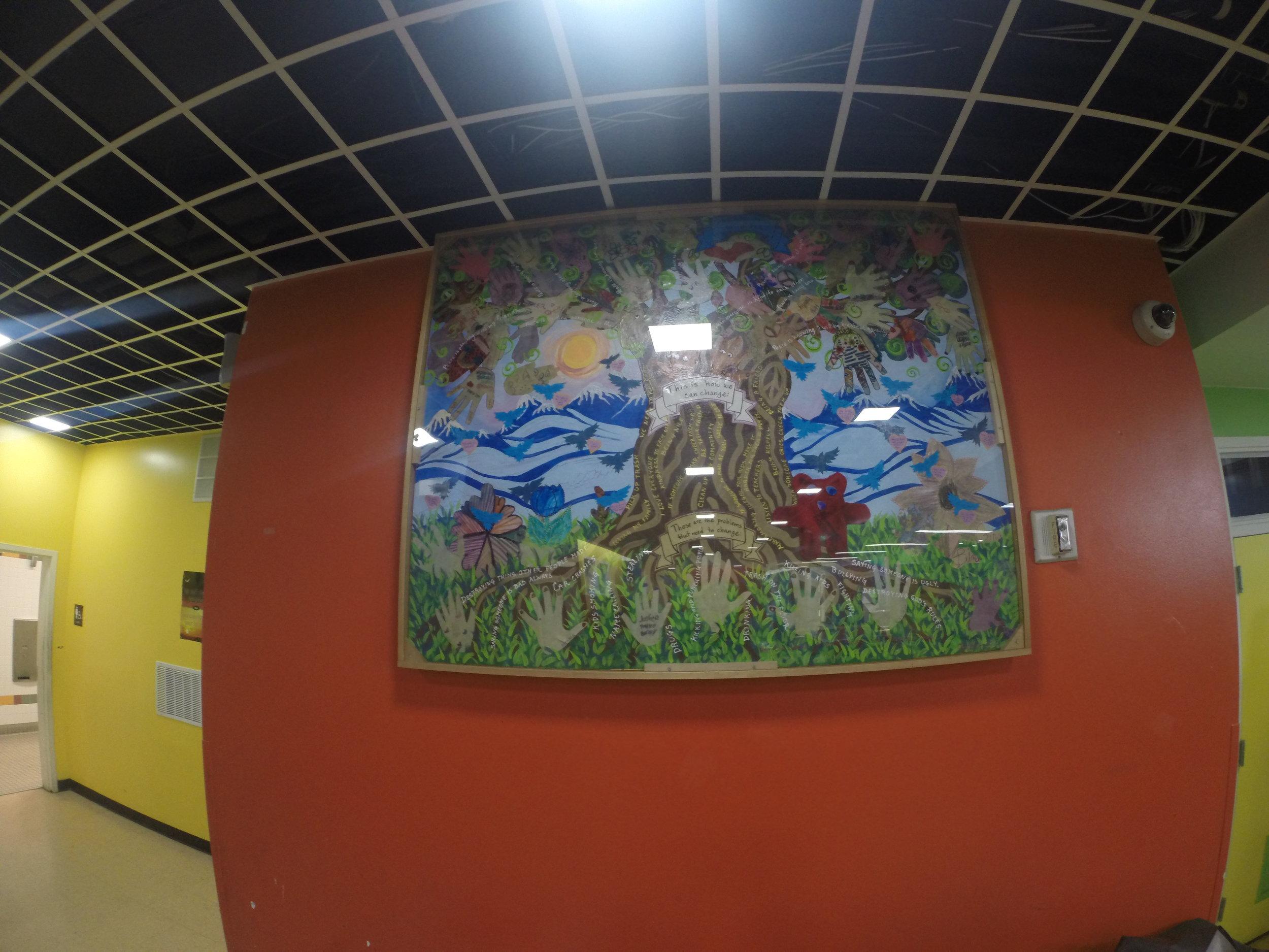 Artwork by local community kids