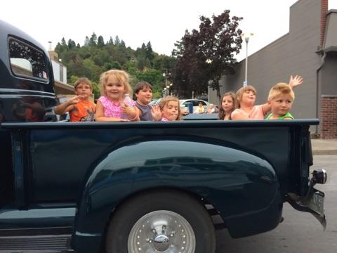 Kids in Grandpa's truck