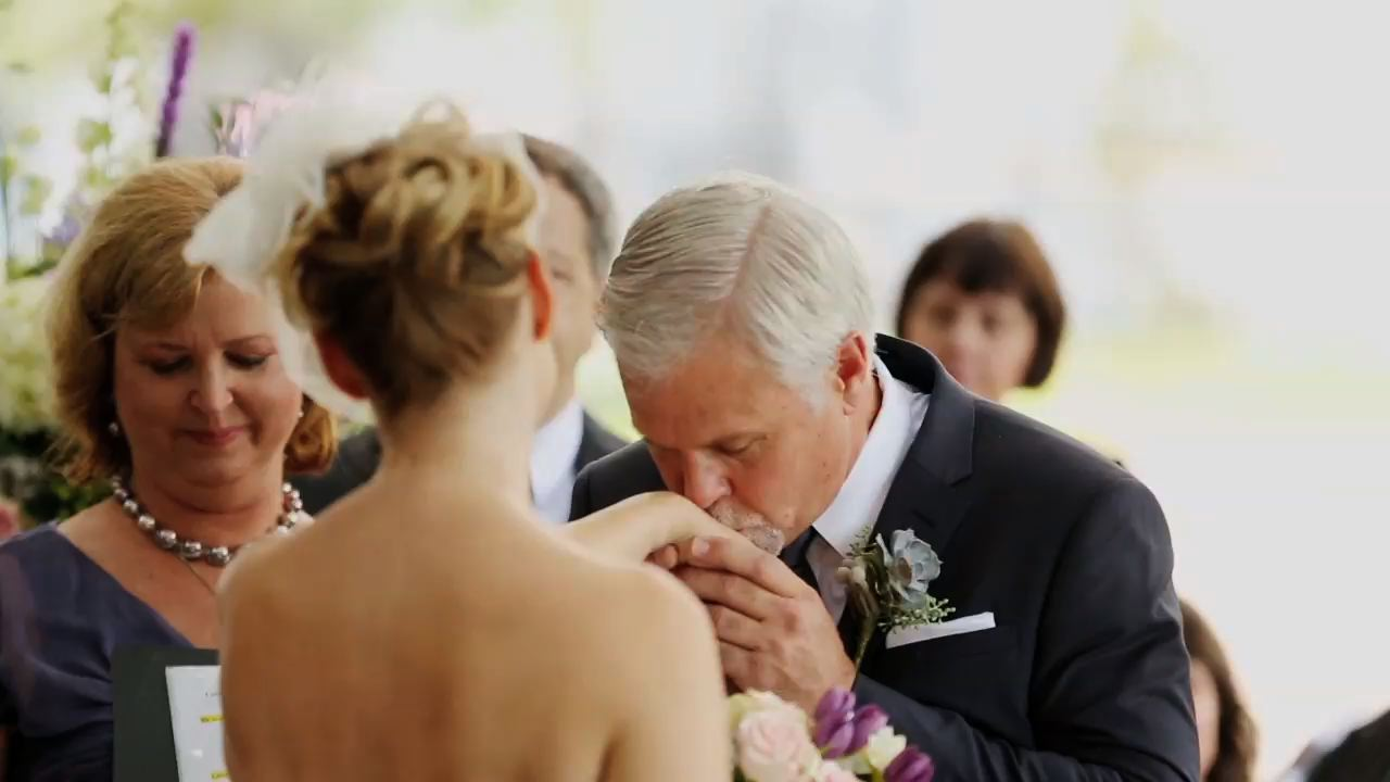 Such a sweet moment during their vows.