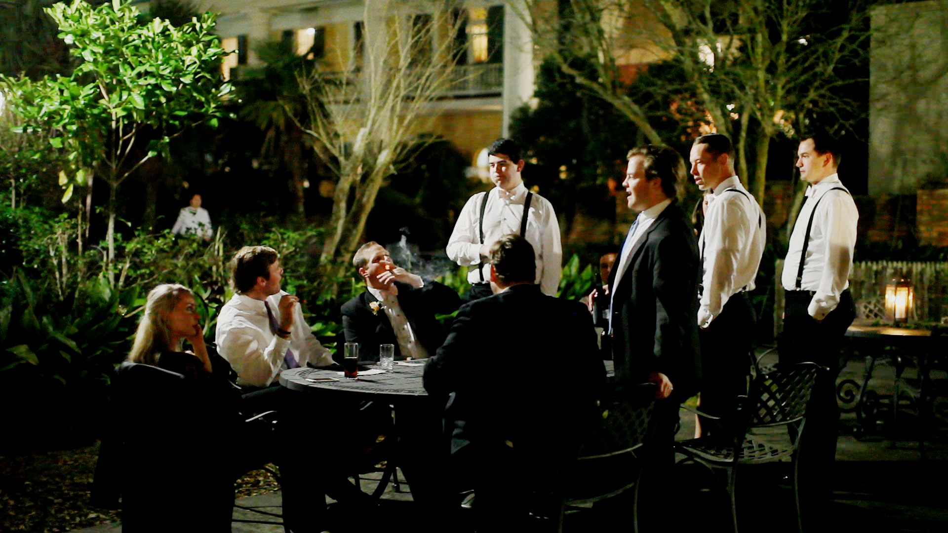 The gentlemen always enjoy a good cigar bar.