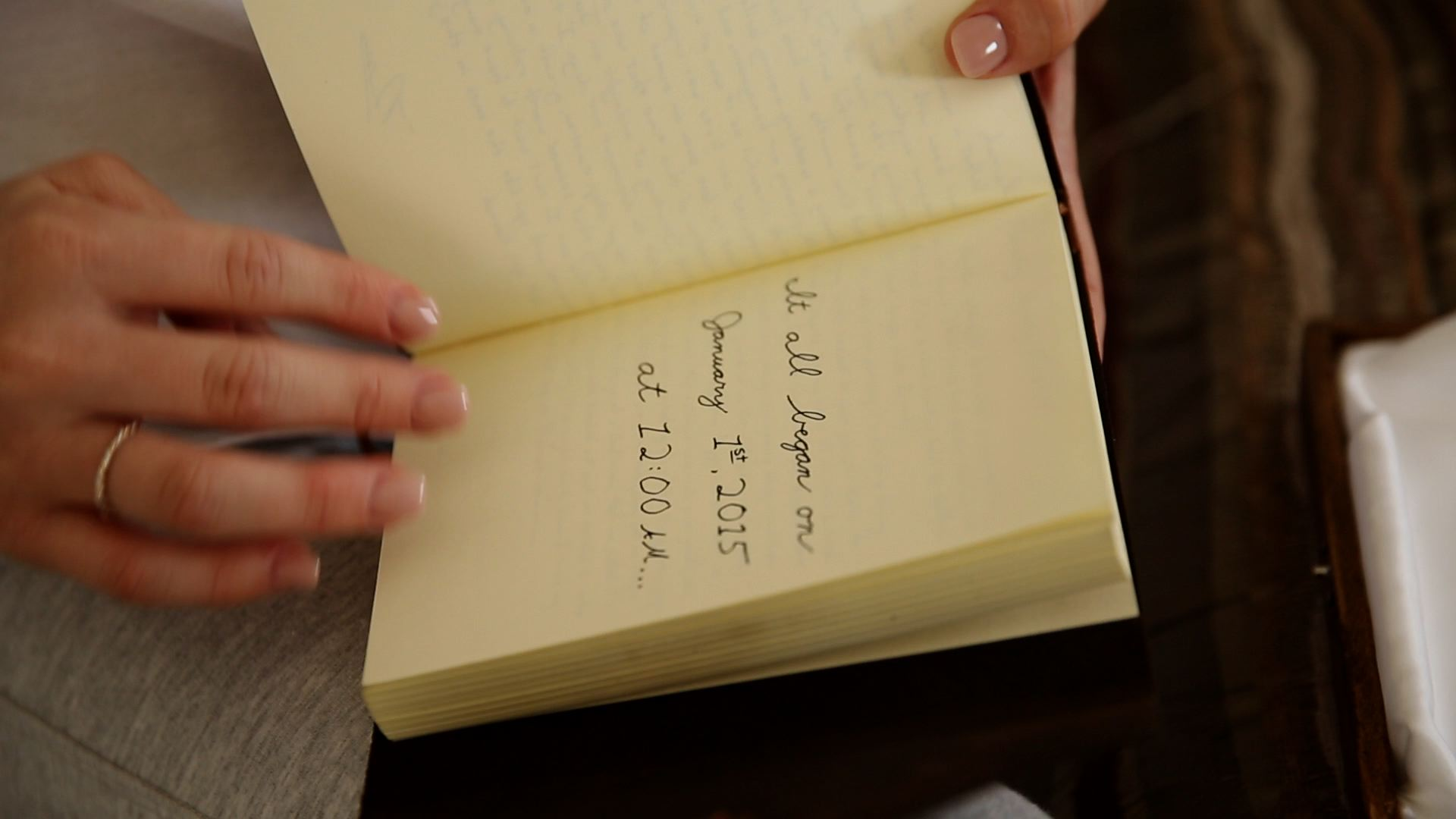 Russ gave Karrah a special journal the night before the wedding.