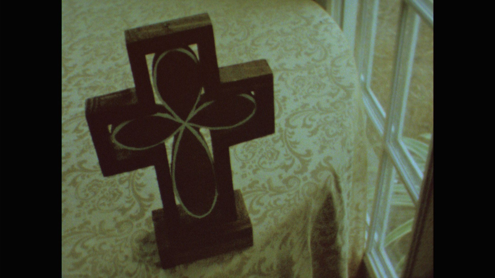 Russ created this cross to put together during their ceremony.