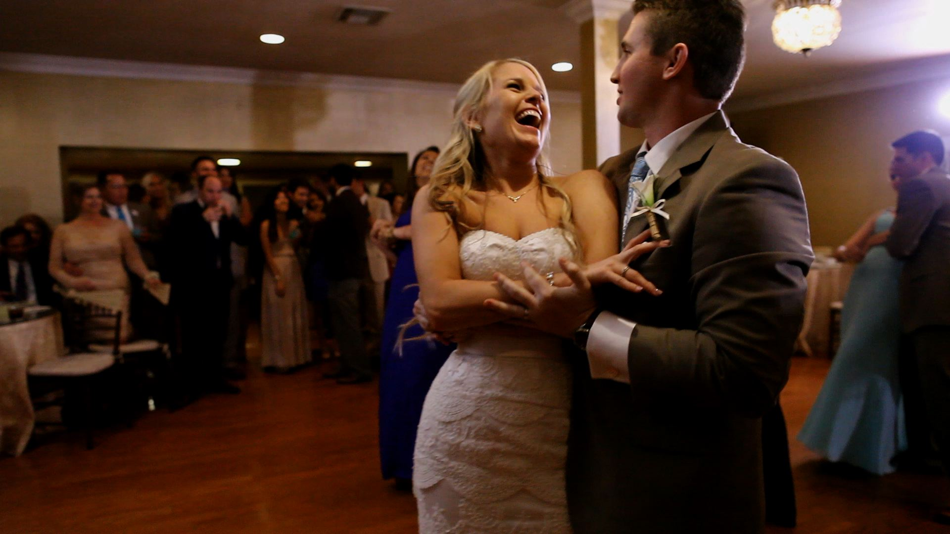 All of the wedding guests enjoyed the performance...