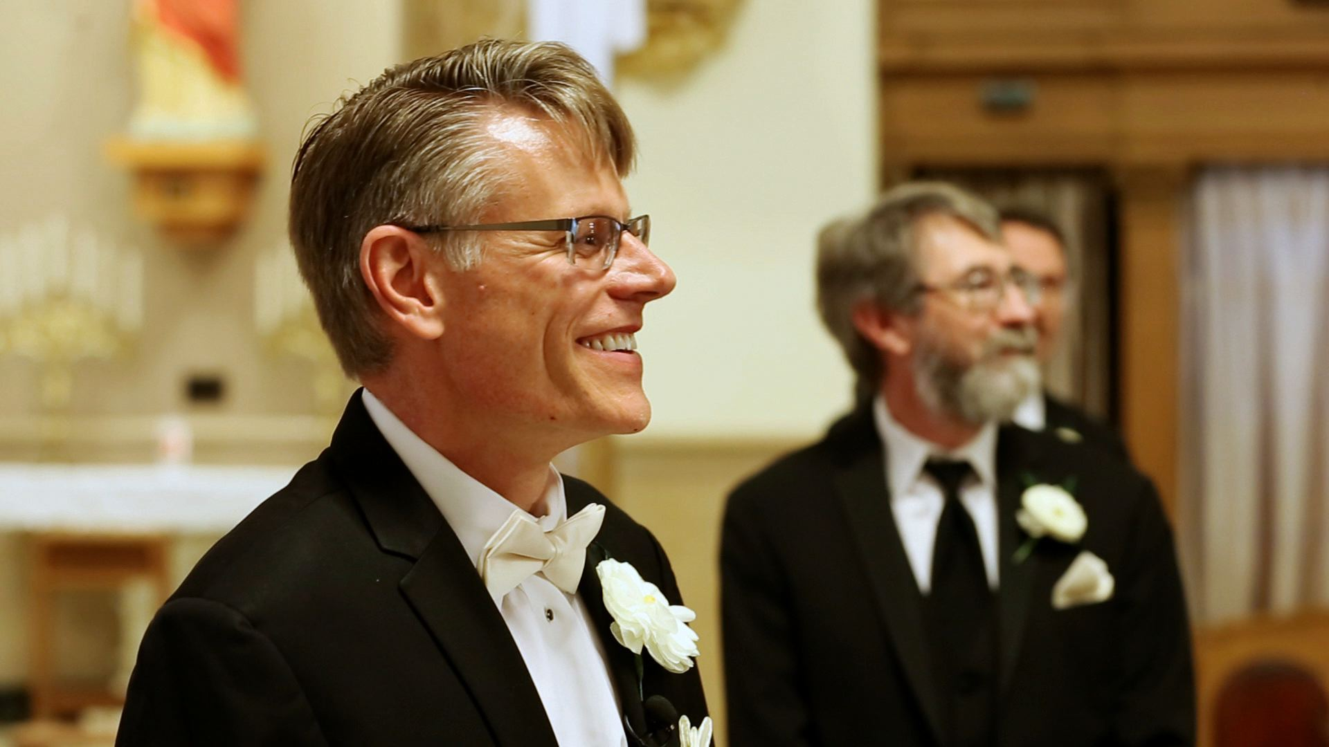 We love watching the groom's reaction as he sees the bride for the first time.