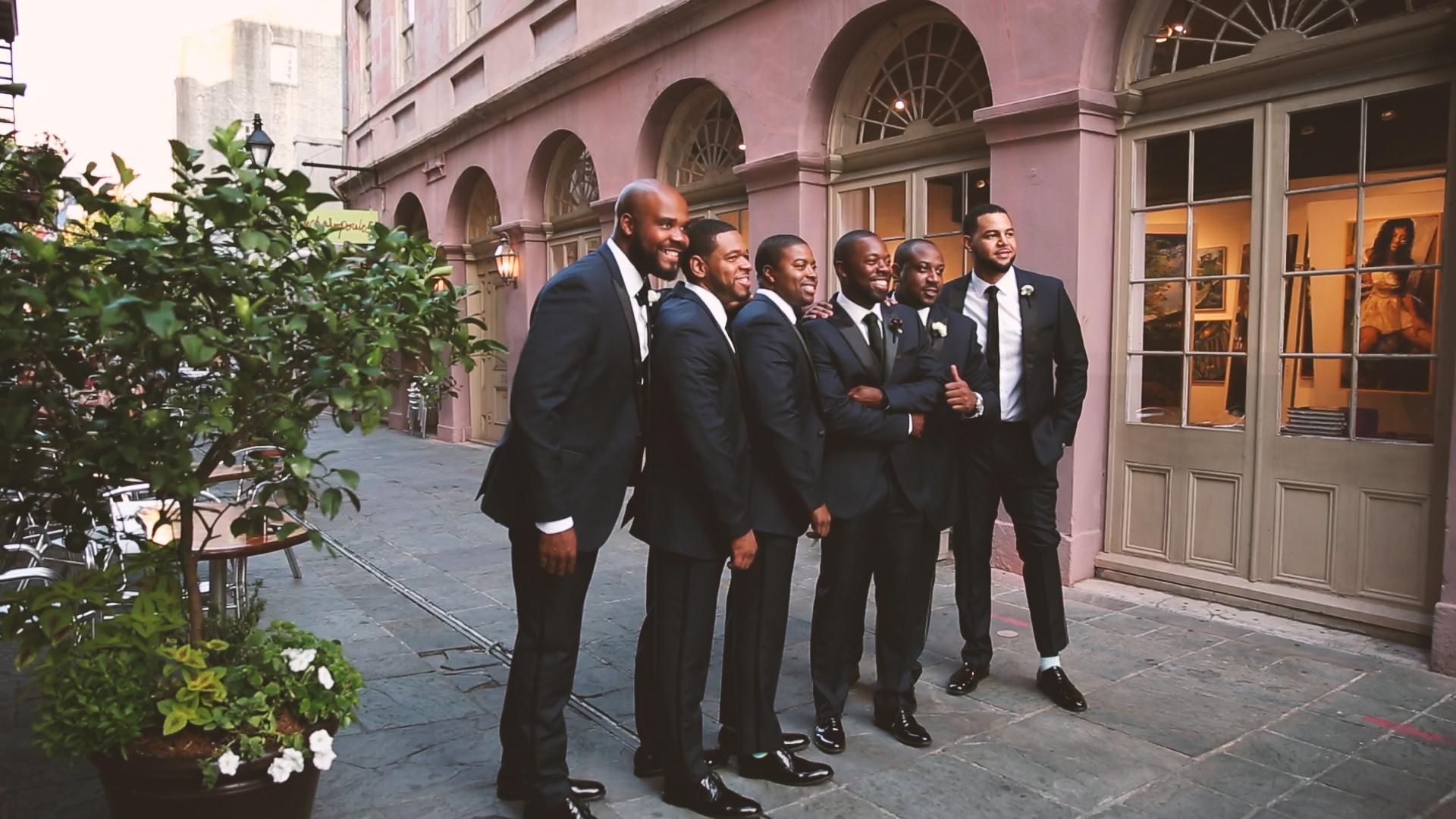 Sharp looking set of groomsmen!