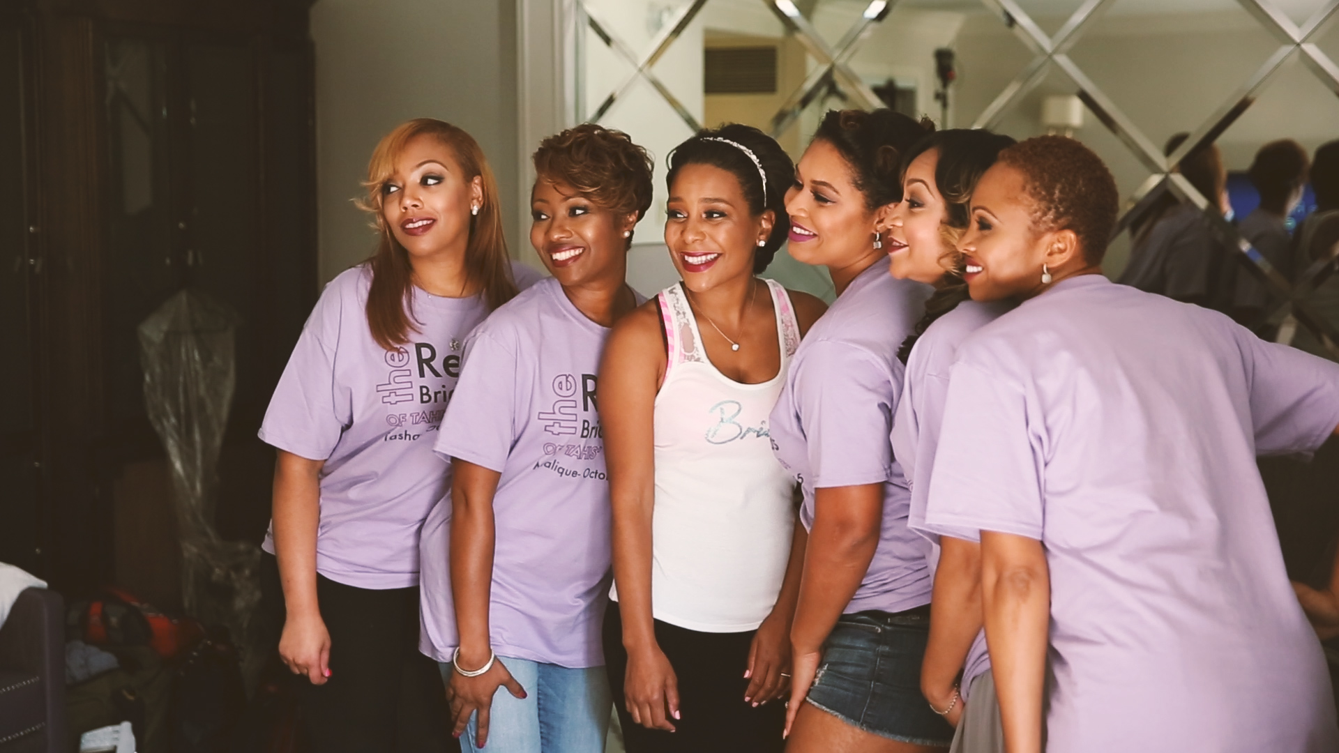 Fun matching bridesmaid T-shirts...