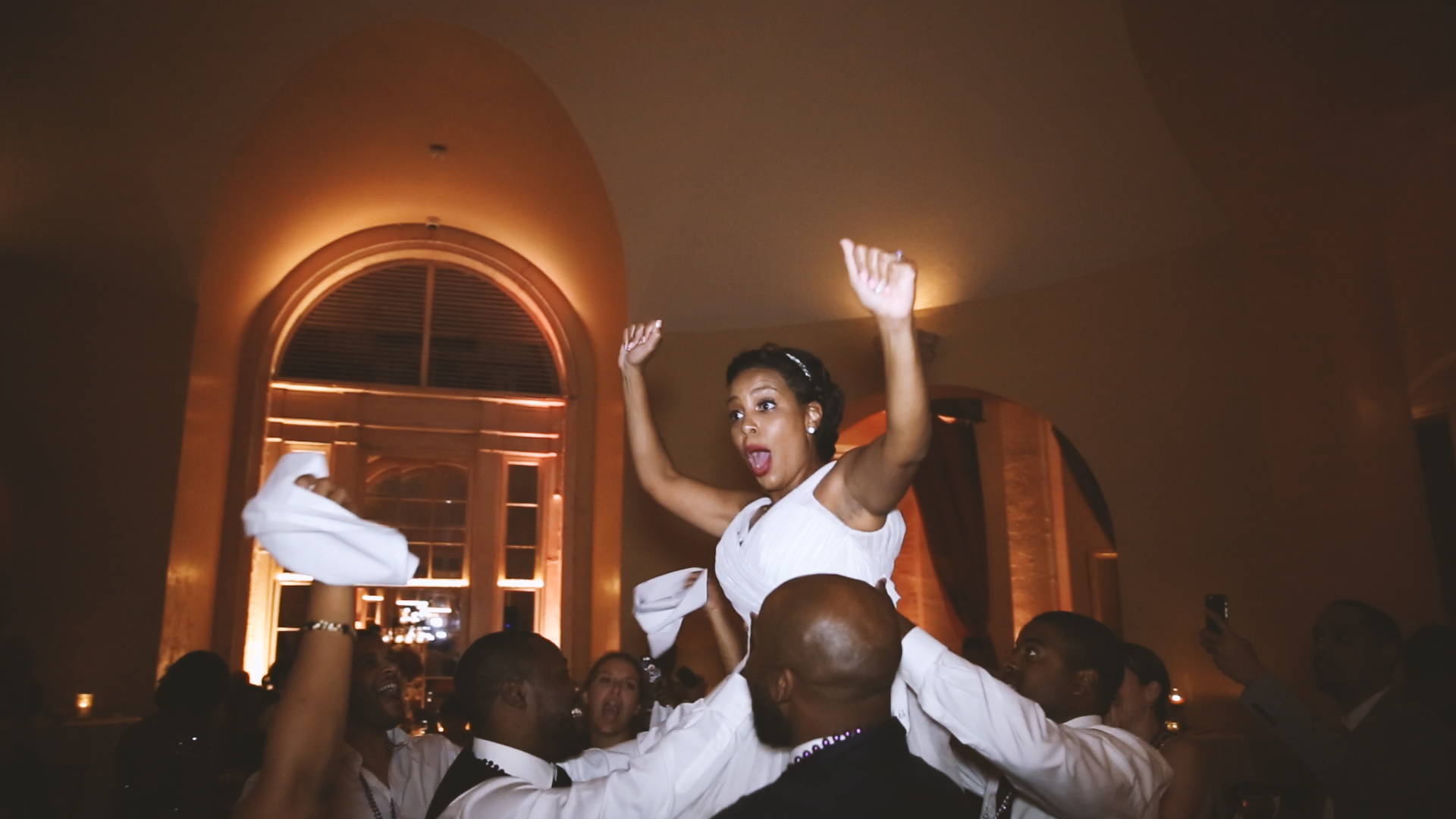 The beautiful bride partying the night away!