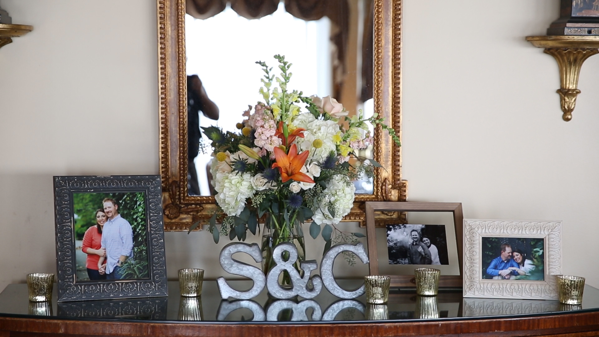 We loved all of  Collin Richie 's photos throughout the reception decor.