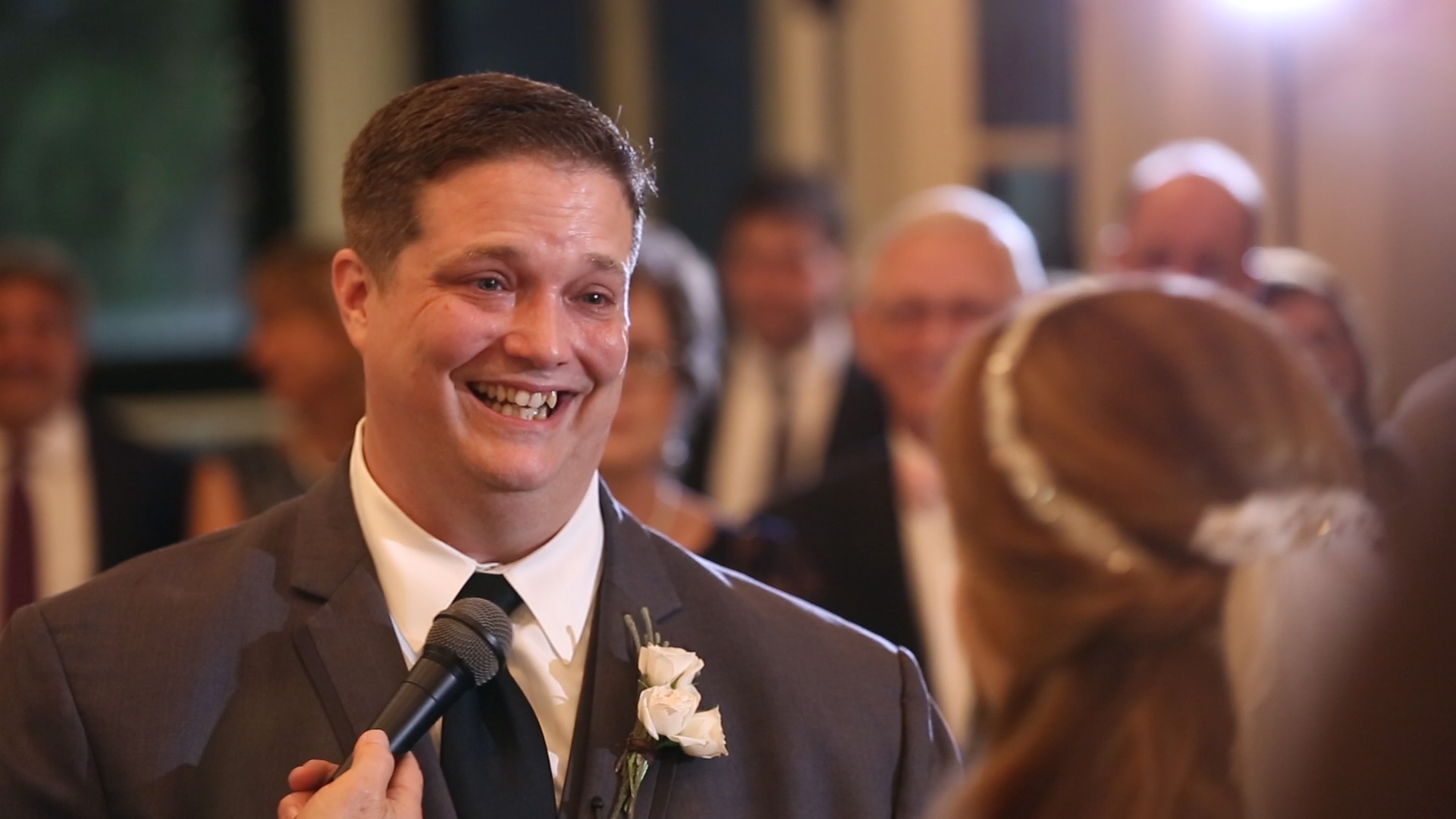 Lauren made Scott laugh and cry with her vows!