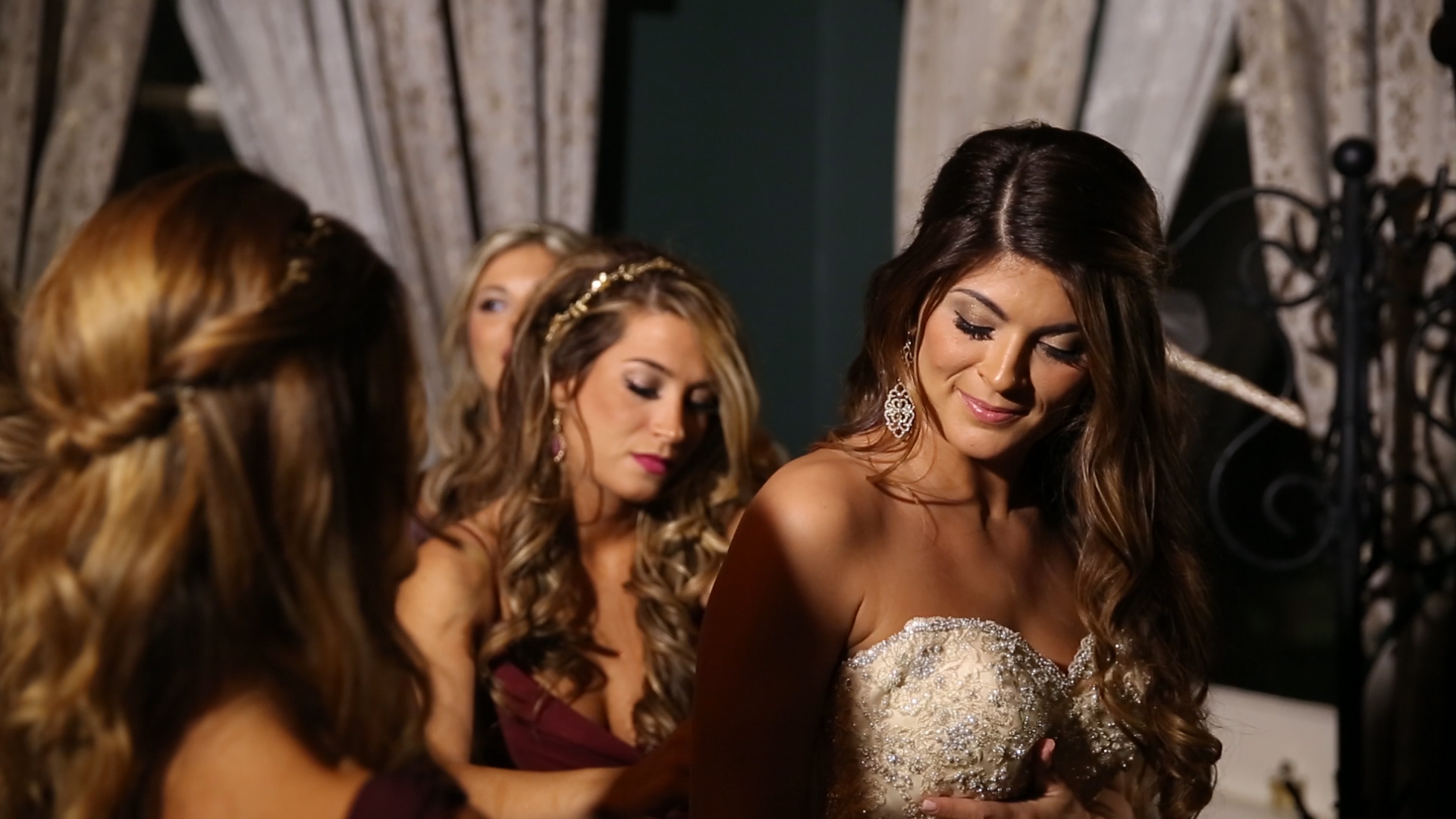 Farrah had her sisters by her side for all the special moments.