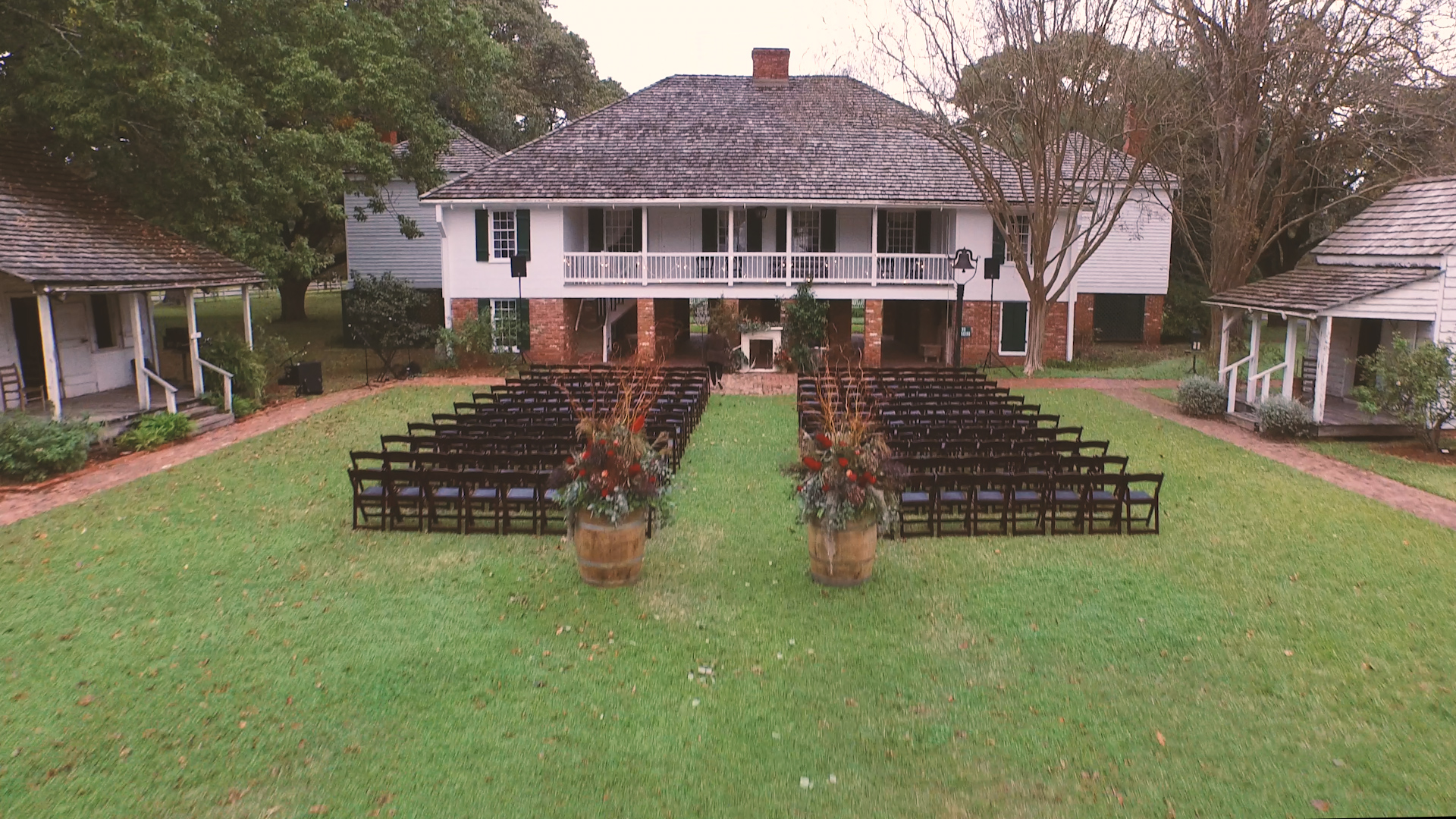 The ceremony setting was perfect for their intimate,emotional vows.