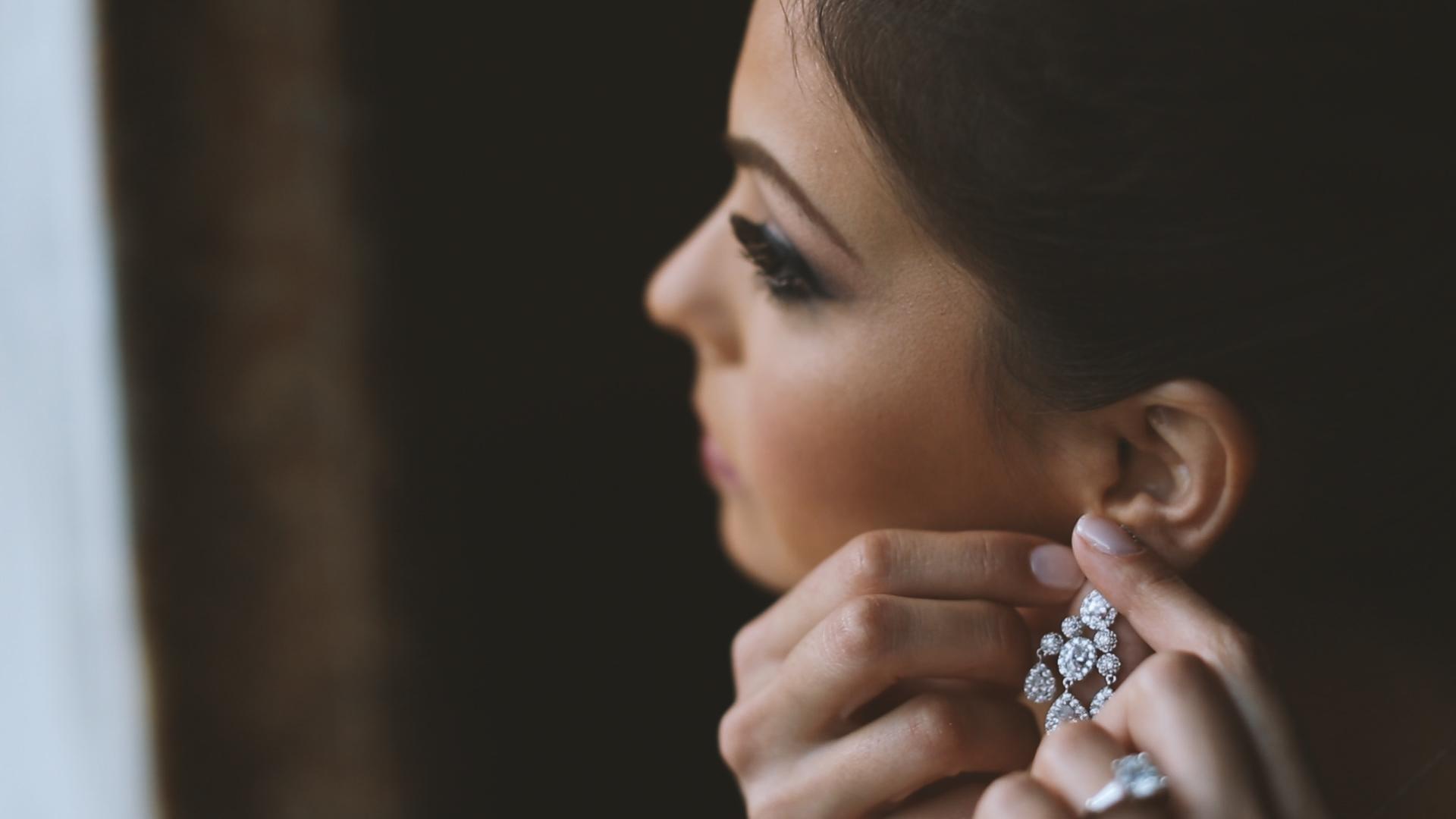 Rachel's statement earrings were gorgeous!