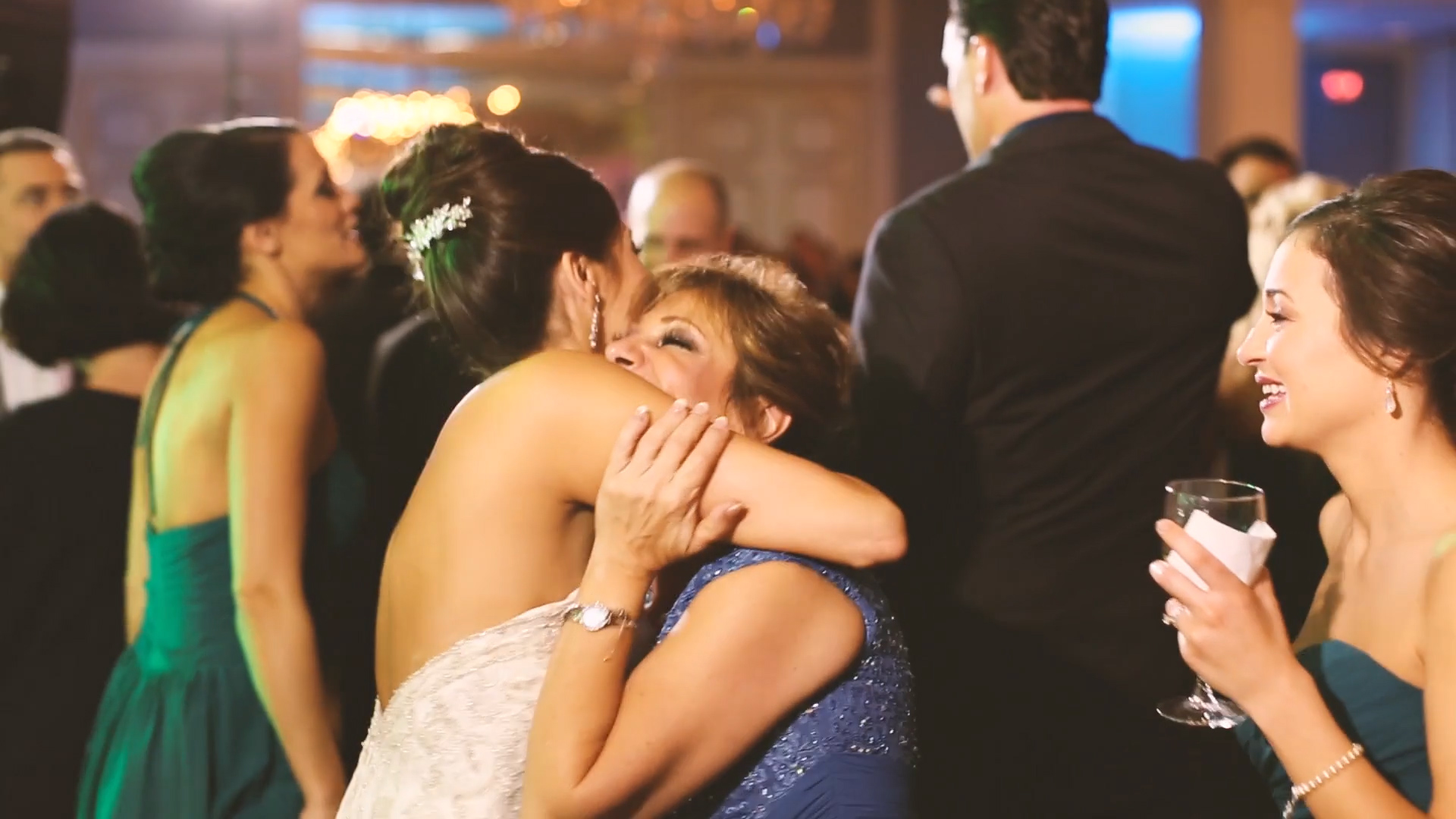 Sweet, emotional moments in the middle of the party are the best!