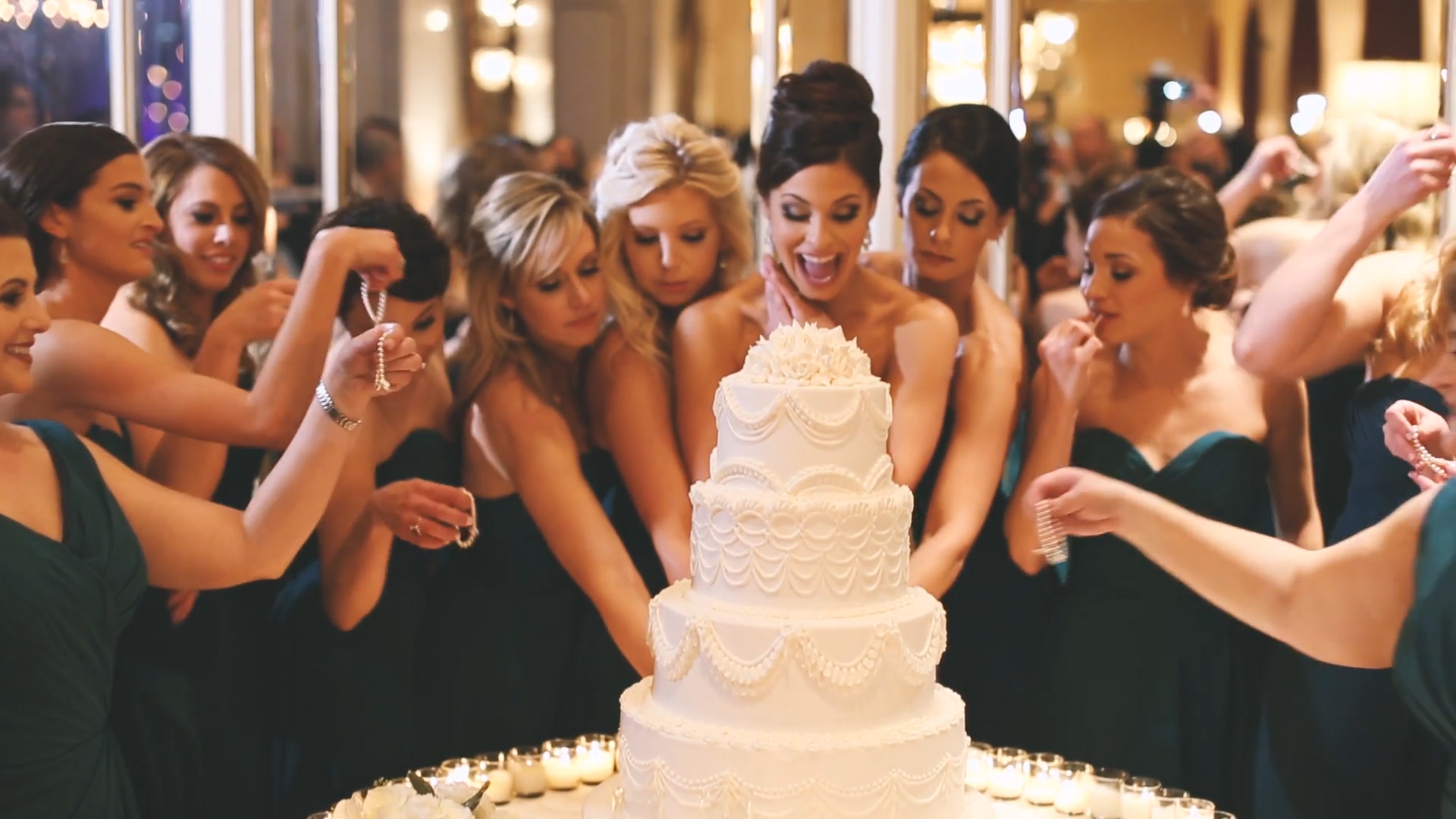 Cake pulls are such a fun tradition for the Bride and her girlfriends.