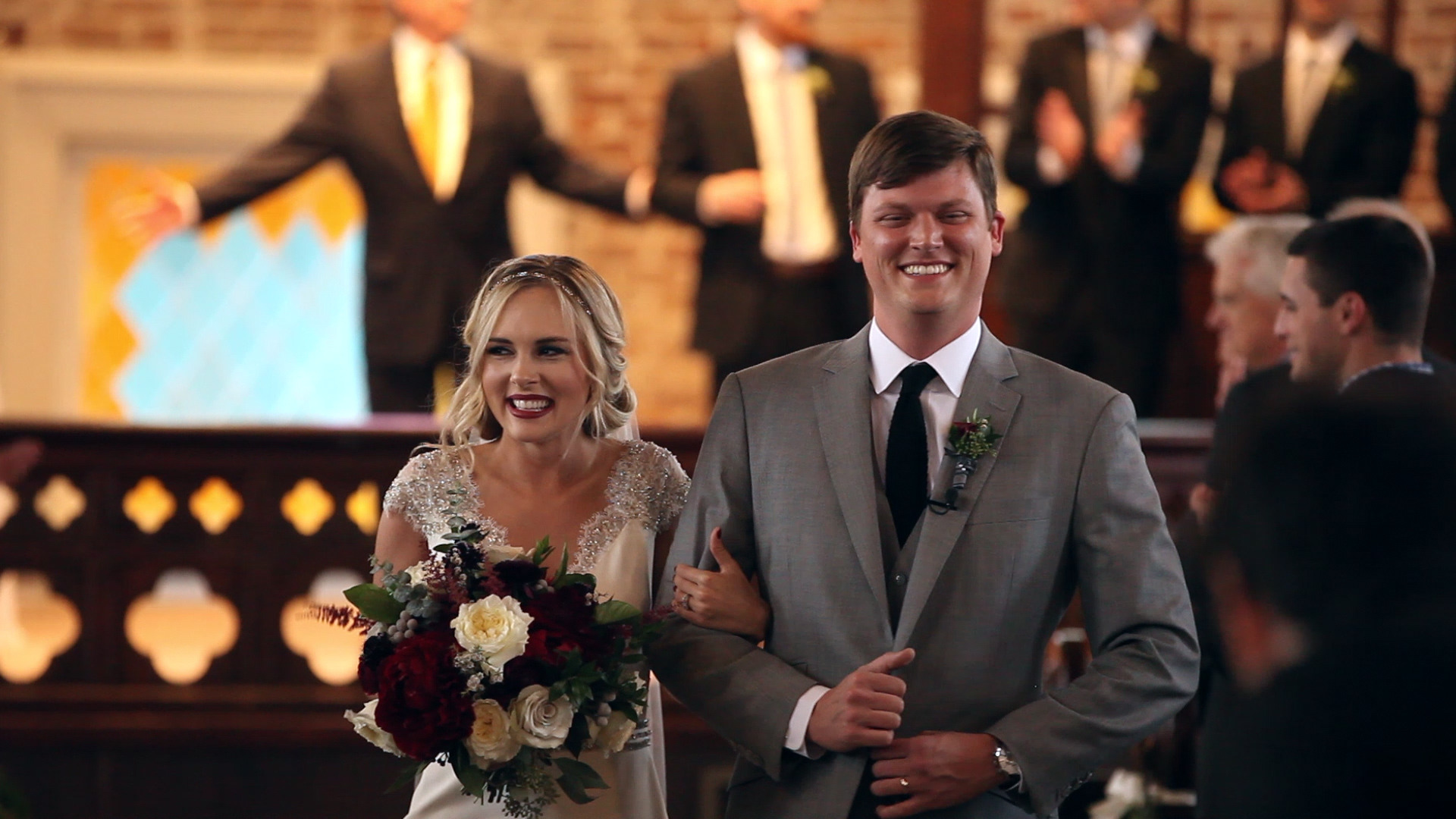 This is one of our favorite moments of the wedding day...the excitement is so real right as the bride and groom become husband and wife!